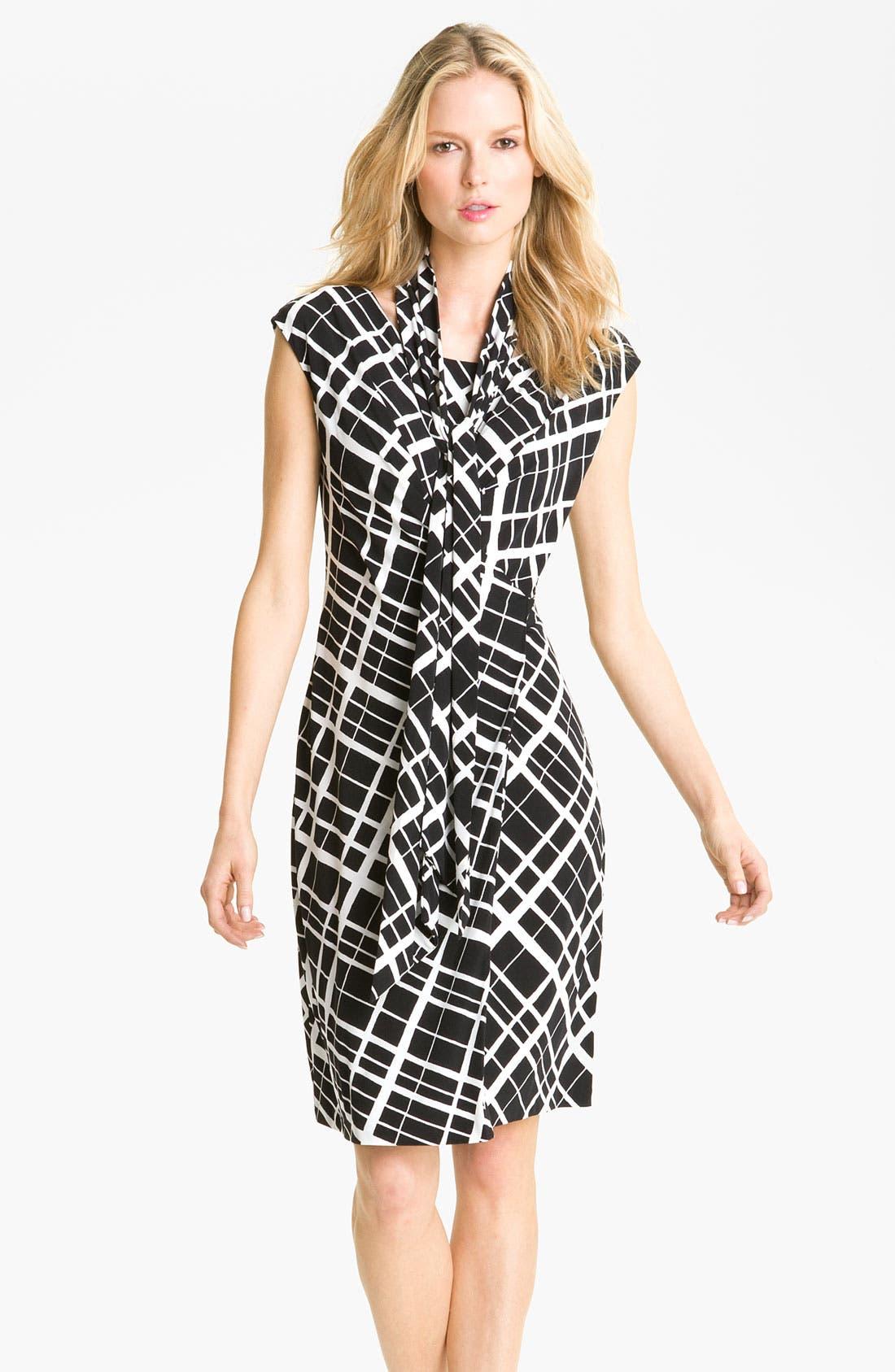 Main Image - Anne Klein Faux Wrap Dress with Detachable Scarf