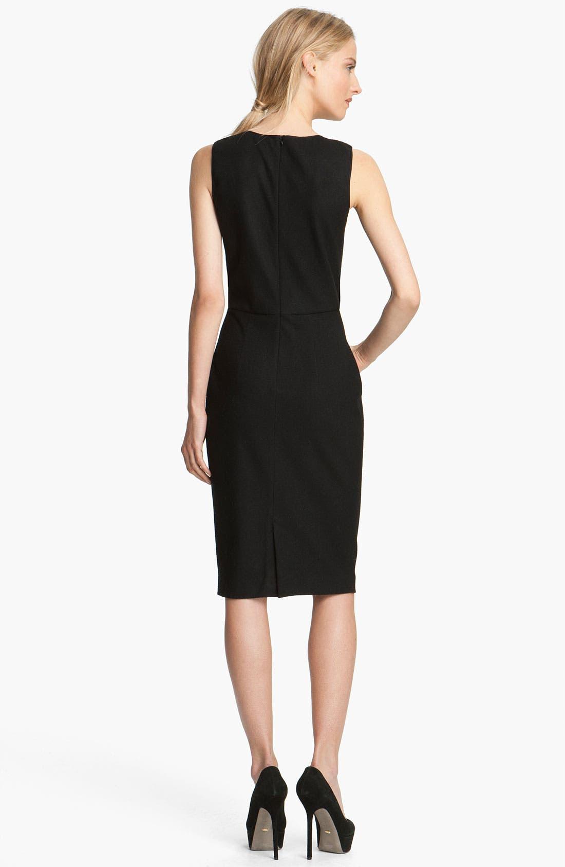 Alternate Image 2  - L'AGENCE Draped Leather Dress