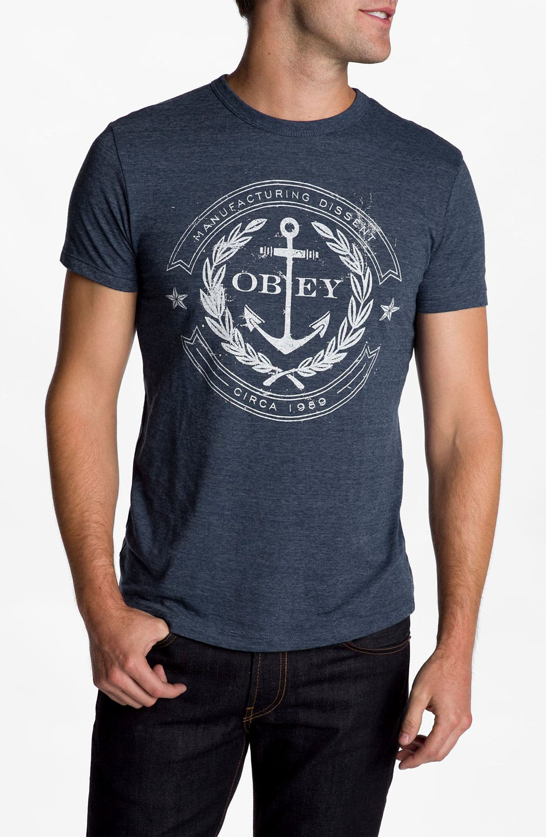 Alternate Image 1 Selected - Obey 'Dissent Anchor' T-Shirt