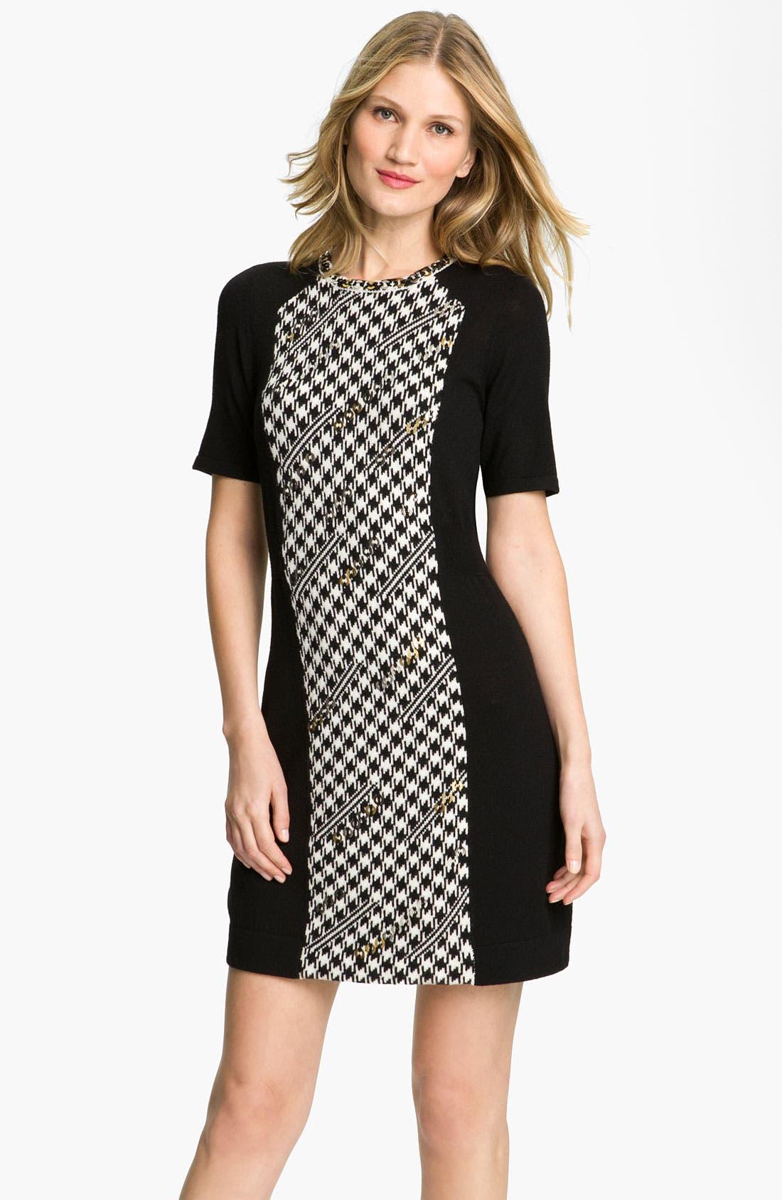 Main Image - Nanette Lepore 'Grand Prize' Merino Wool Sweater Dress