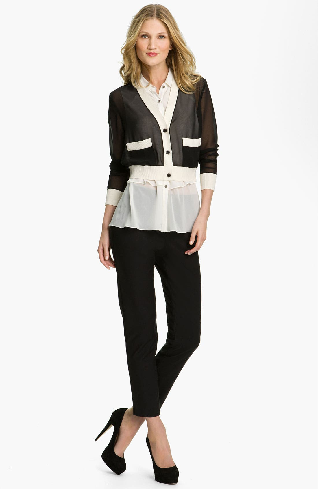 Alternate Image 4  - Kenneth Cole New York 'Chloe' Cigarette Pants (Petite)