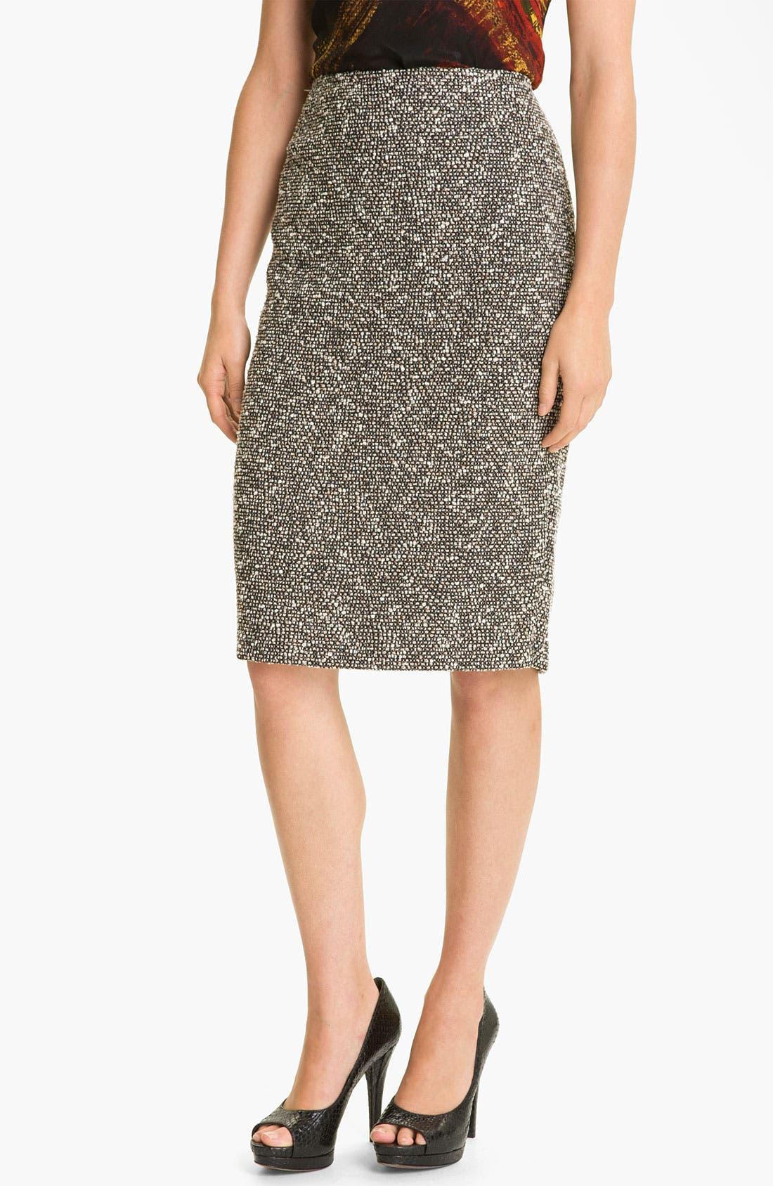 Main Image - Lafayette 148 New York 'Bijoux' Slim Tweed Skirt