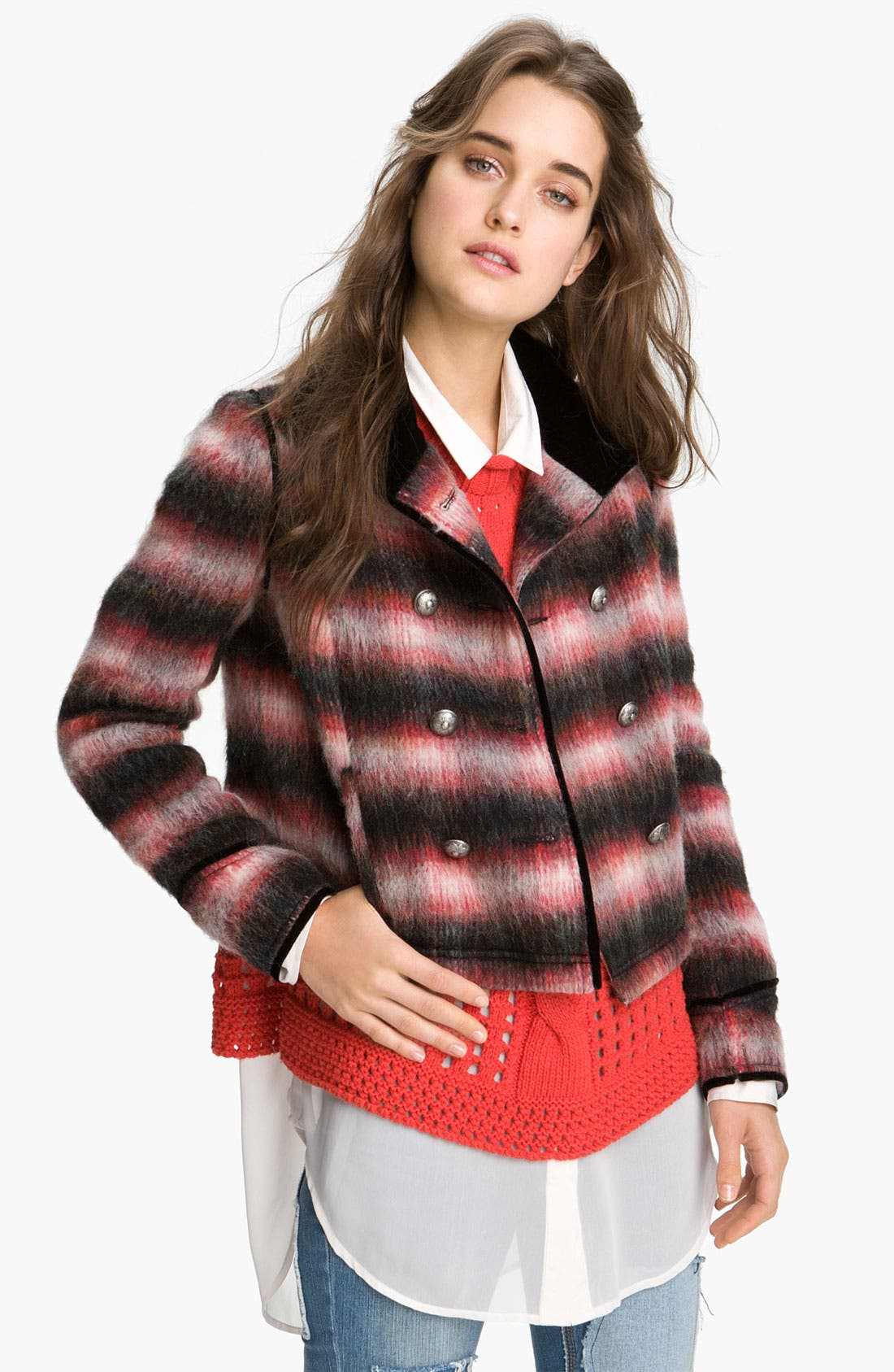Alternate Image 1 Selected - Free People Boxy Plaid Jacket