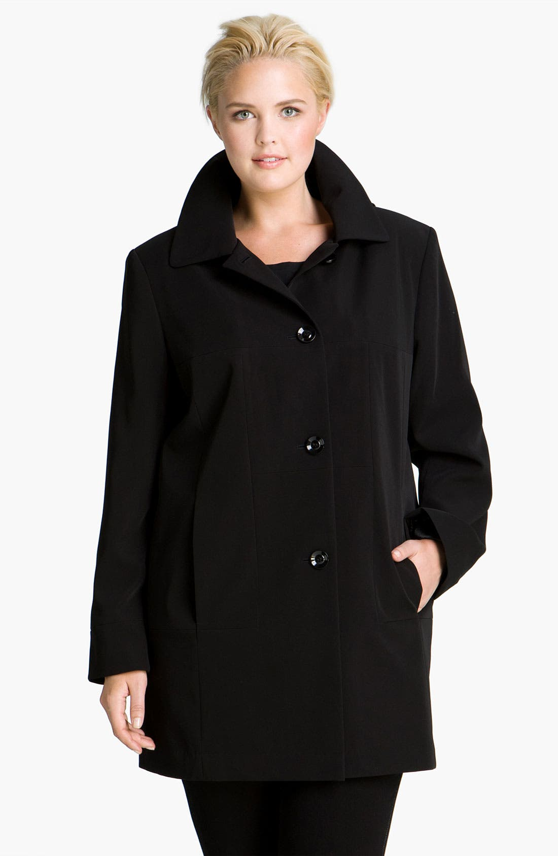 Main Image - Gallery Club Collar Coat with Detachable Liner (Plus)
