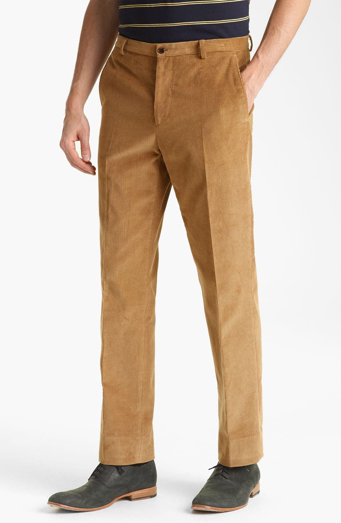 Main Image - Shipley & Halmos 'Grand' Corduroy Suit Trousers