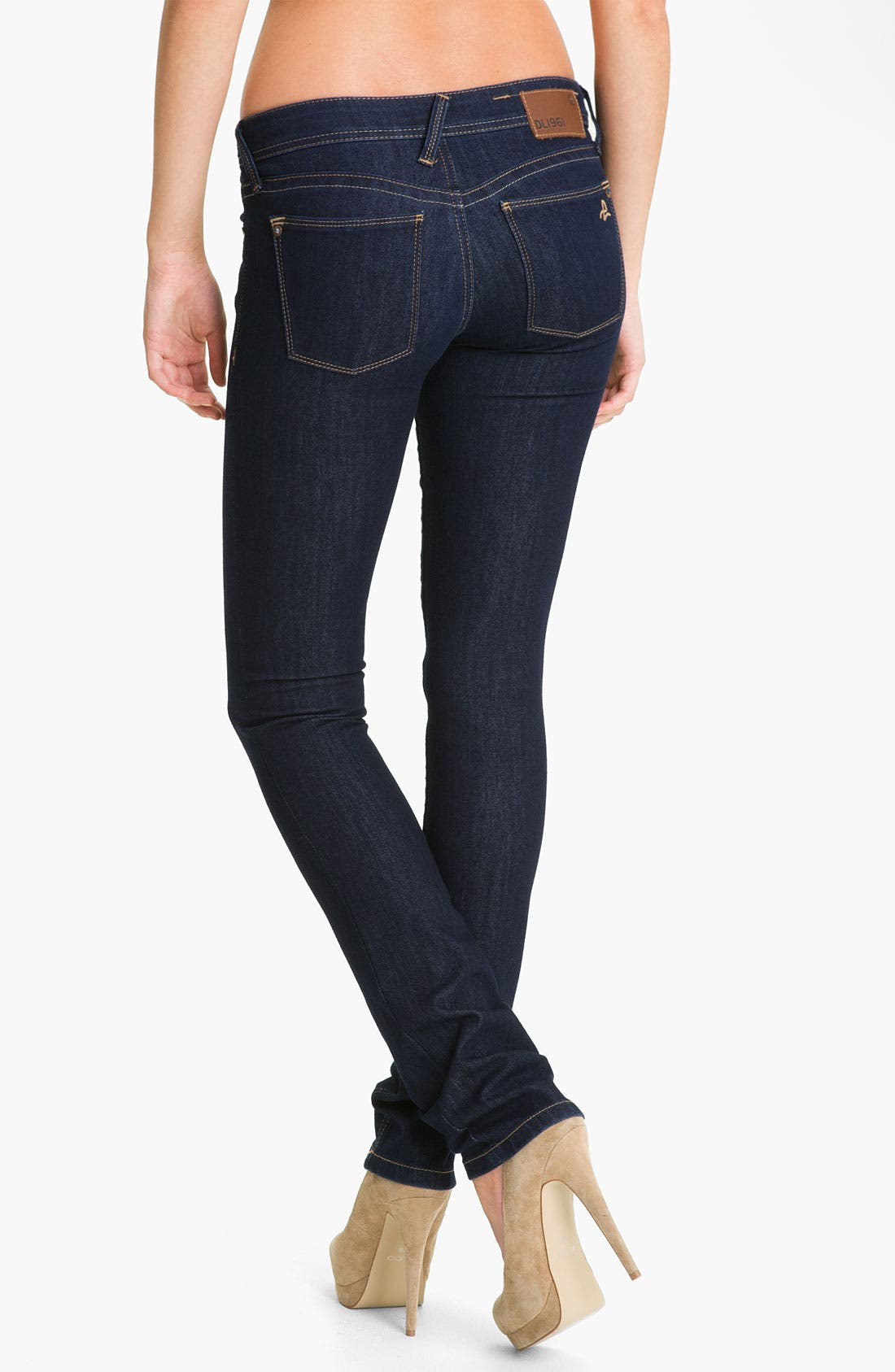 Alternate Image 2  - DL1961 'Kate' X-Fit Stretch Denim Slim Straight Leg Jeans (Twilight Wash)