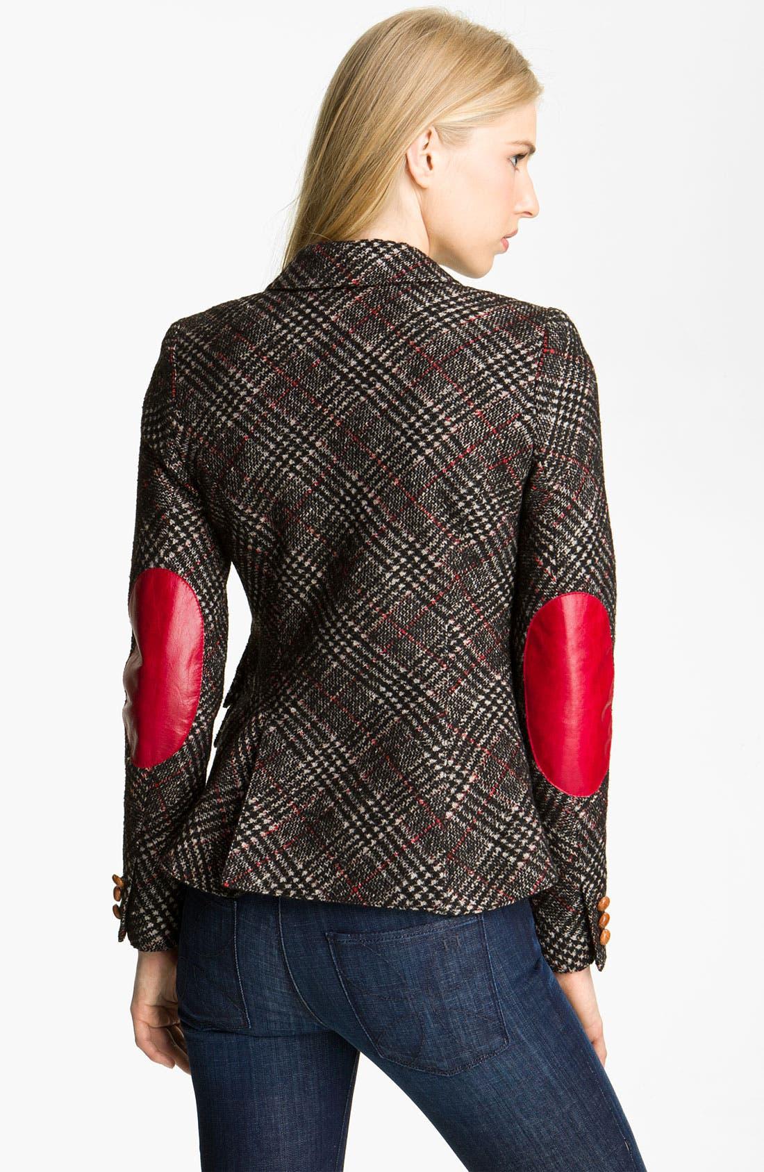 Alternate Image 2  - Smythe Leather Patch Plaid Jacket