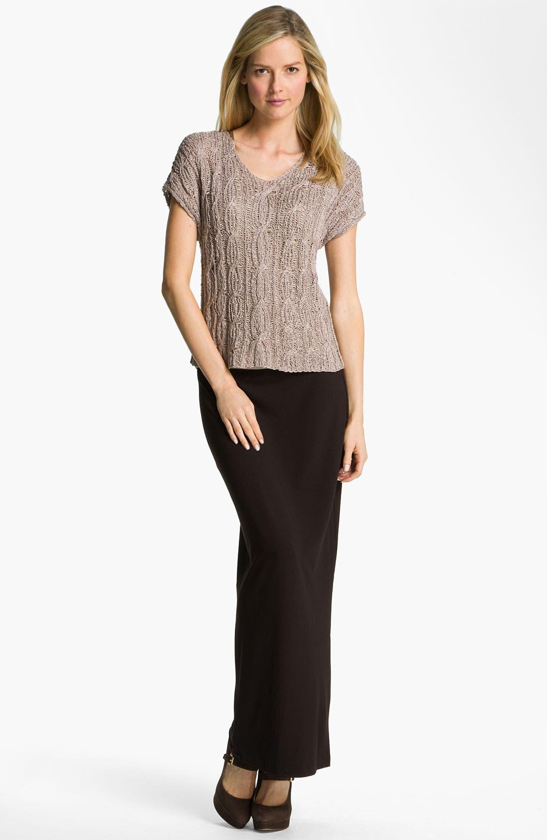 Alternate Image 3  - Eileen Fisher Fold Over Slim Maxi Skirt
