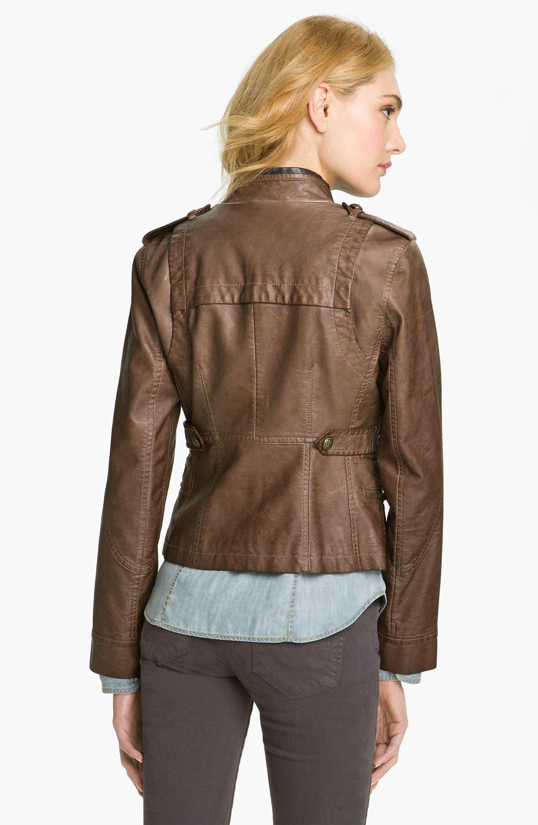 Alternate Image 3  - Steve Madden Asymmetrical Faux Leather Jacket