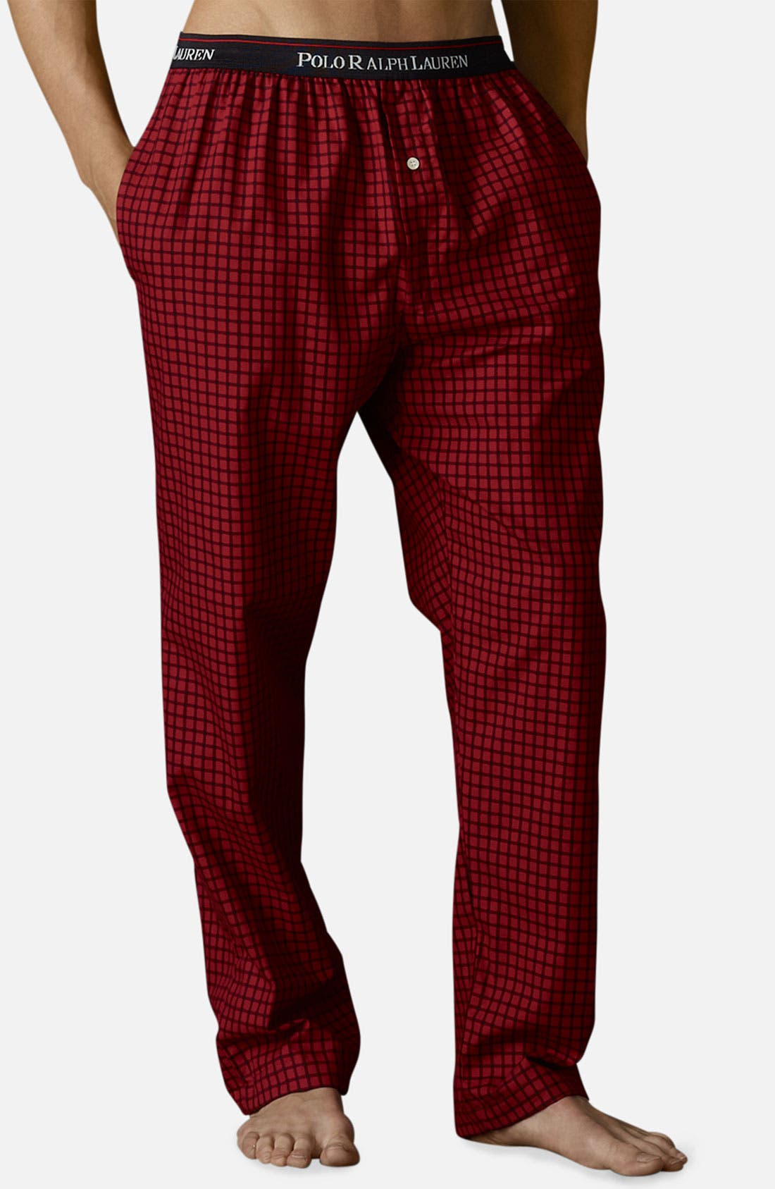 Alternate Image 1 Selected - Polo Ralph Lauren Twill Lounge Pants