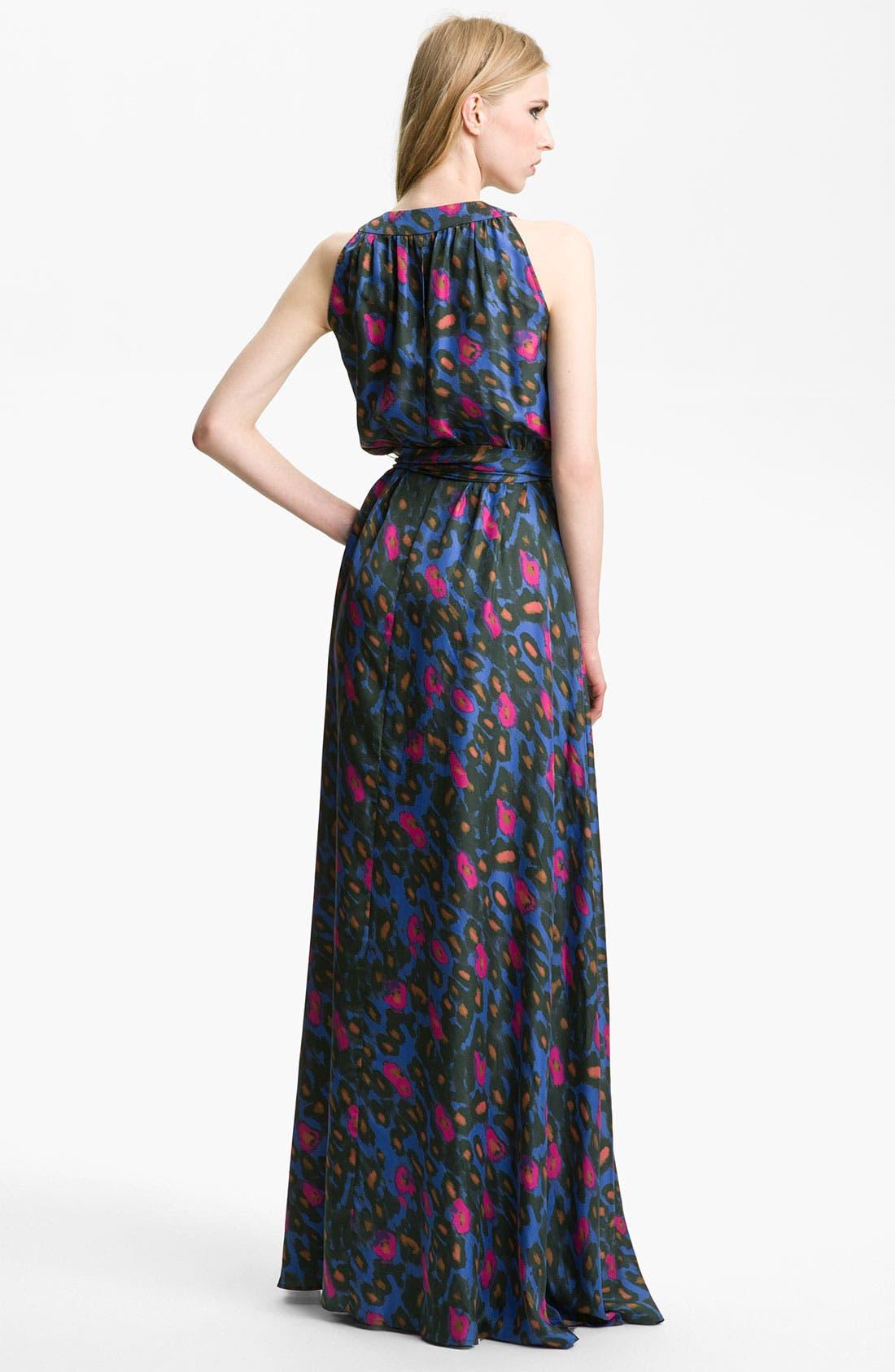 Alternate Image 2  - Rachel Zoe 'Julianna' Print Silk Gown