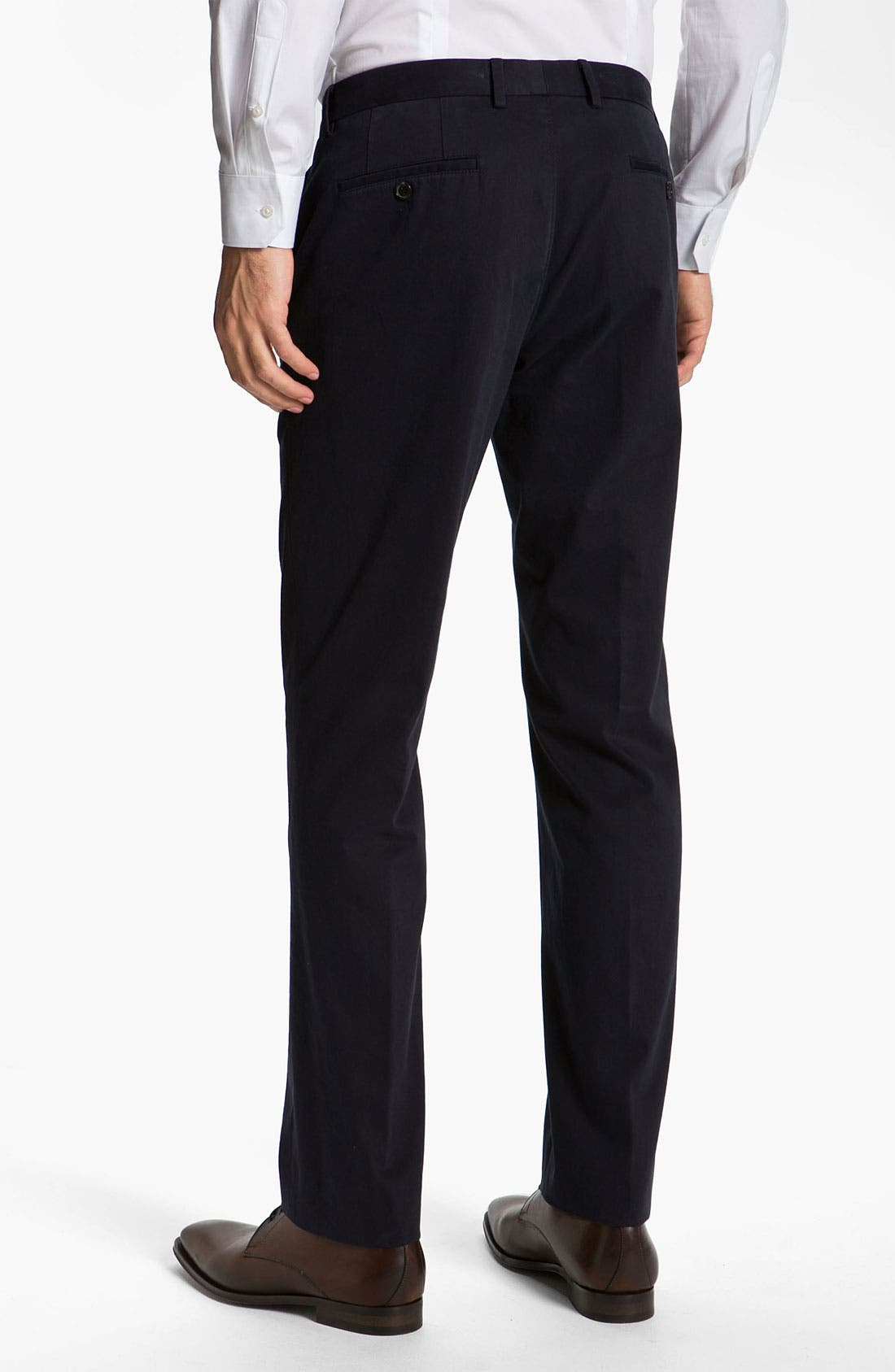 Alternate Image 2  - BOSS Black 'Shap' Twill Cotton Trousers