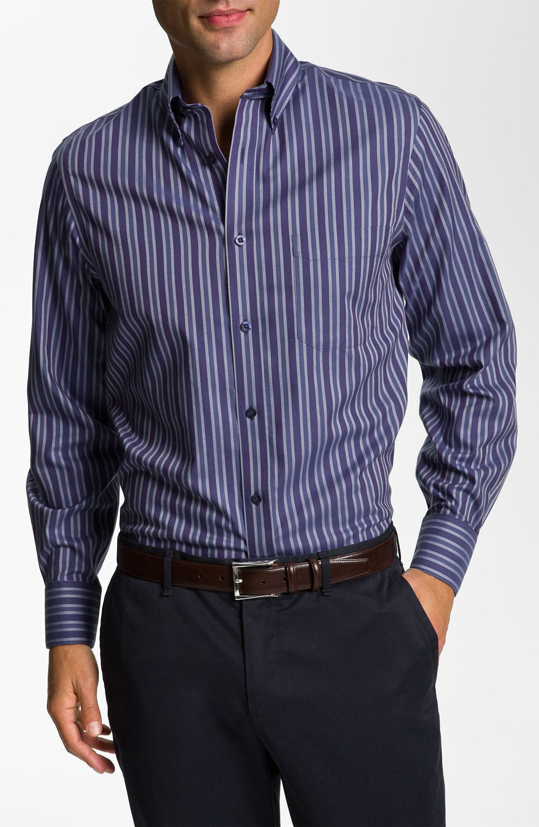Alternate Image 1 Selected - Nordstrom Smartcare™ Regular Fit Twill Sport Shirt