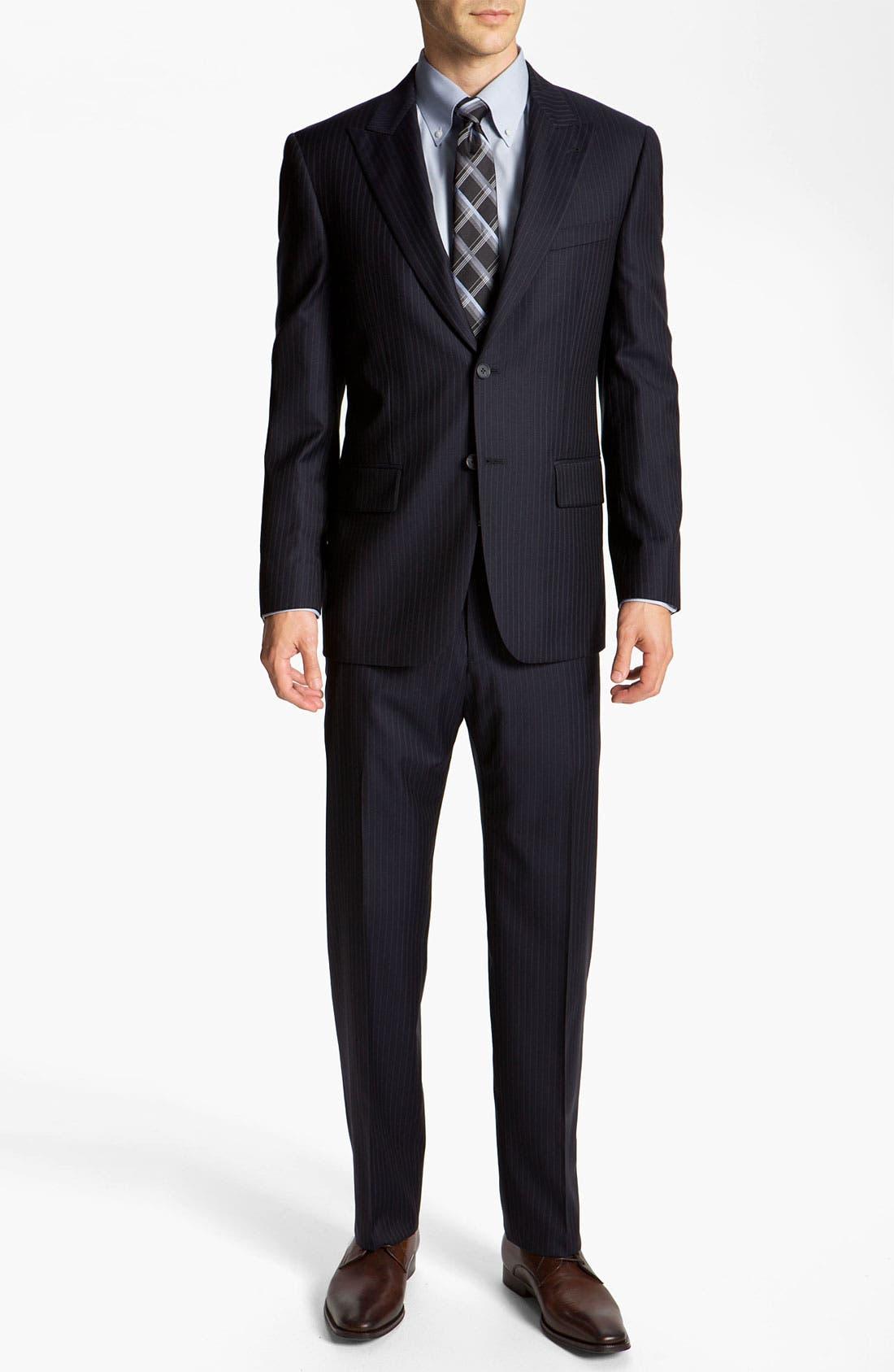 Alternate Image 2  - Joseph Abboud 'Profile' Pinstripe Wool Suit