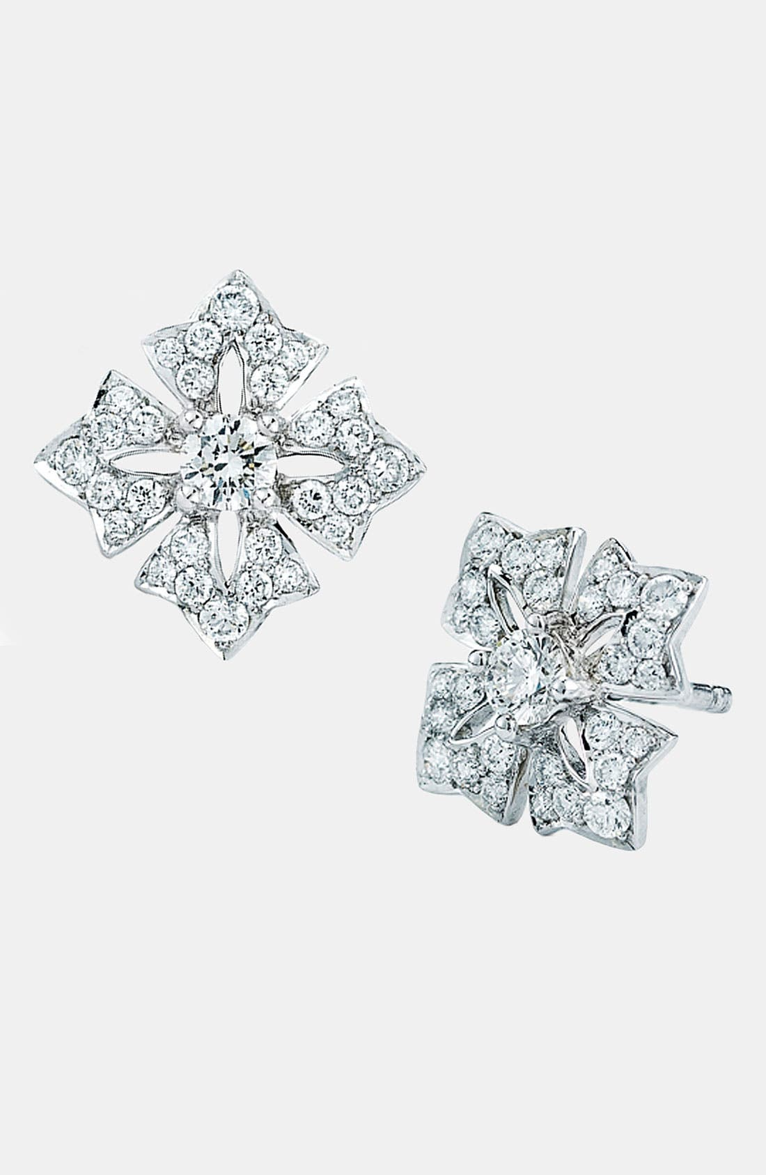 Main Image - Kwiat Maltese Cross Stud Earrings