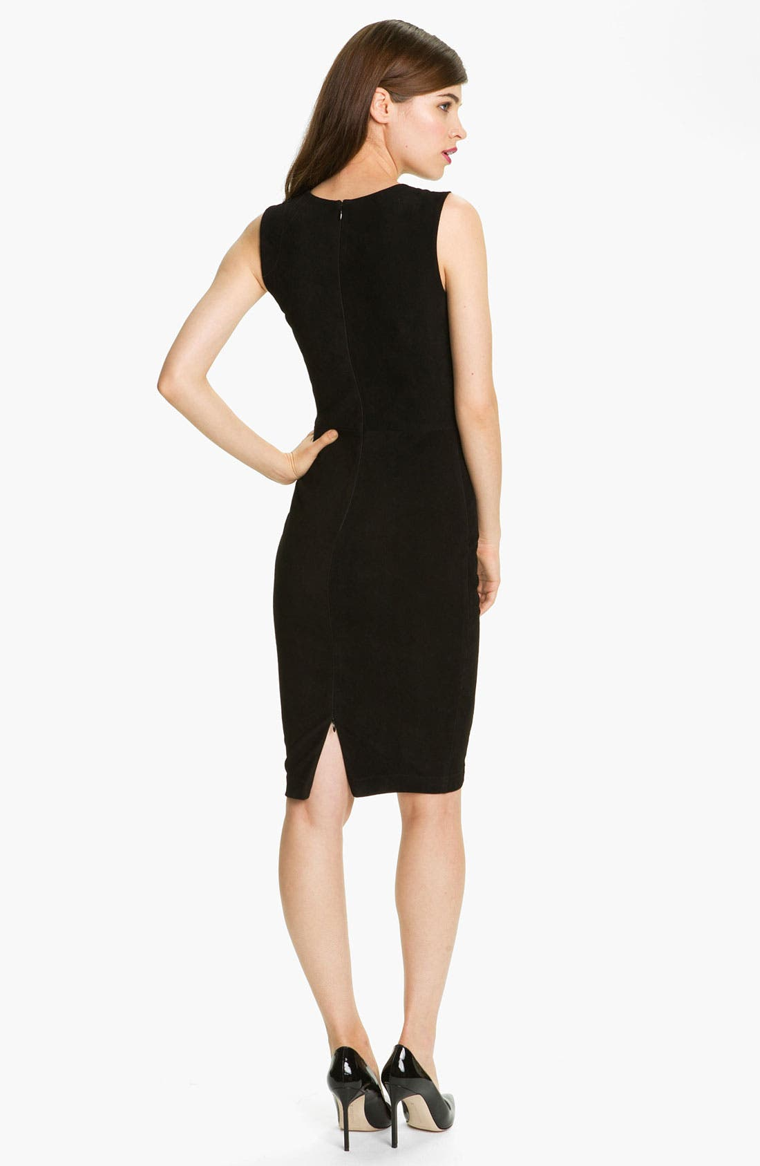 Alternate Image 2  - Robert Rodriguez Leather & Suede Sheath Dress
