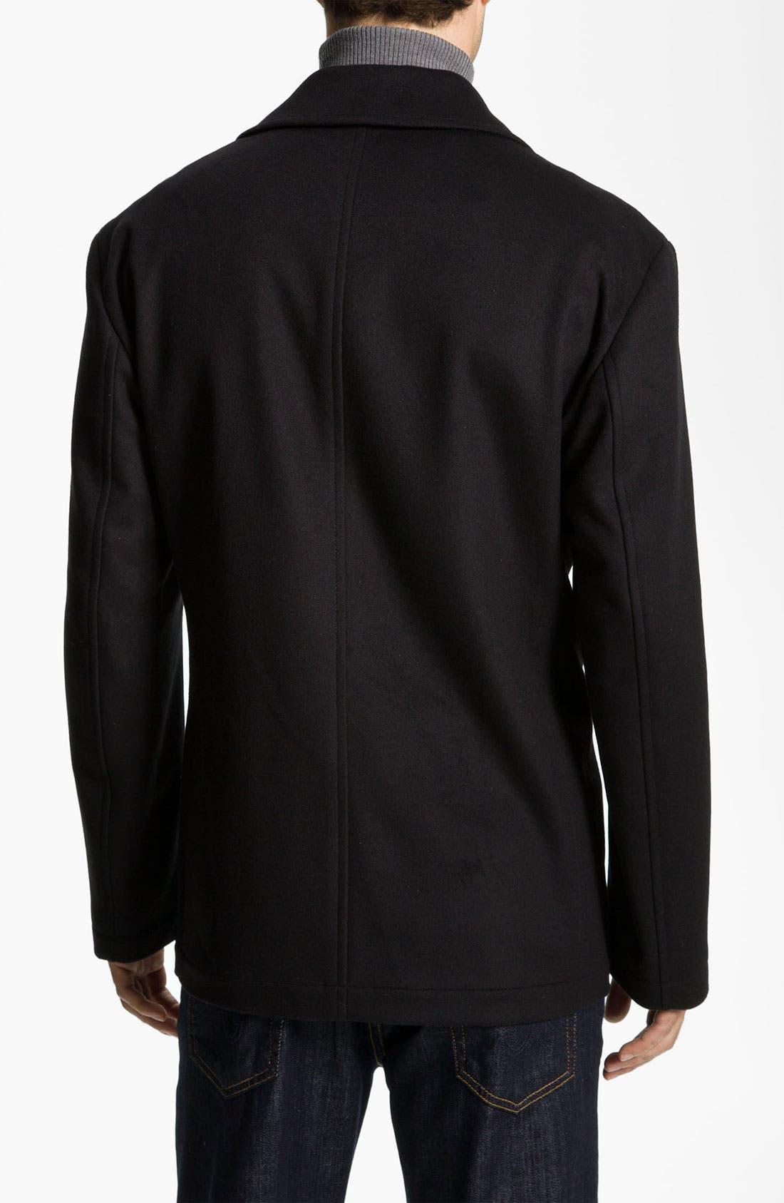 Alternate Image 2  - BOSS Black 'Chester' Regular Fit Wool Blend Coat