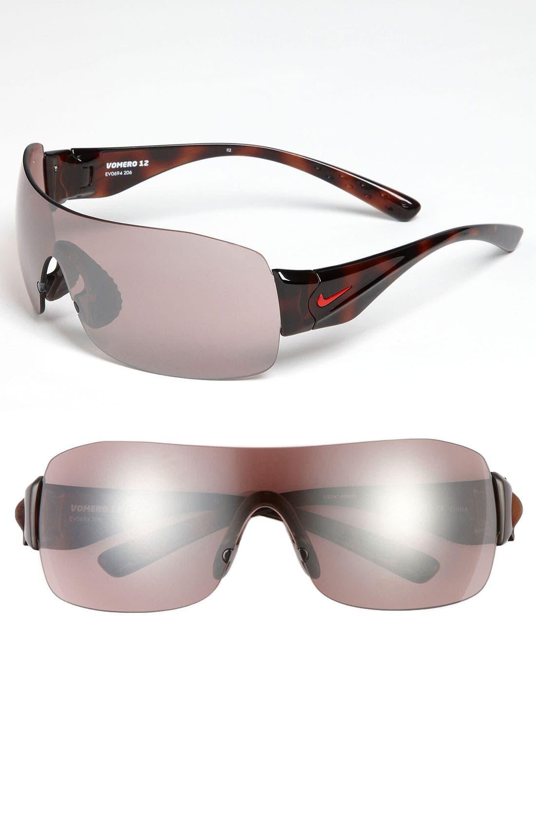Alternate Image 1 Selected - Nike 'Vomero 12' Rimless Shield Sunglasses