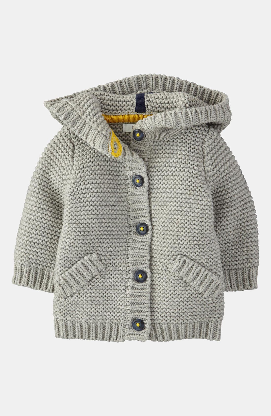 Alternate Image 1 Selected - Mini Boden 'Chunky' Cardigan (Infant)