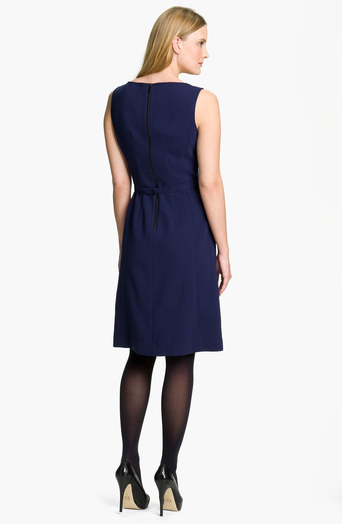 Alternate Image 2  - Lafayette 148 New York Double Cloth Bateau Neck Dress