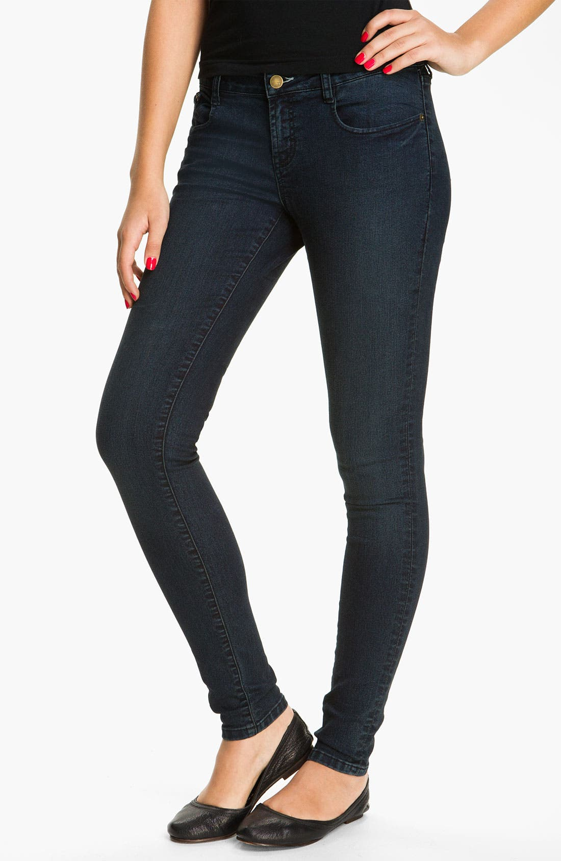 Alternate Image 2  - r.jeans by Rubbish® Skinny Jeans (Juniors)
