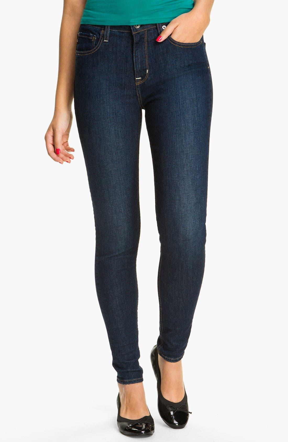 Alternate Image 2  - Big Star 'Avalon' Skinny Jeans (Flux) (Juniors)