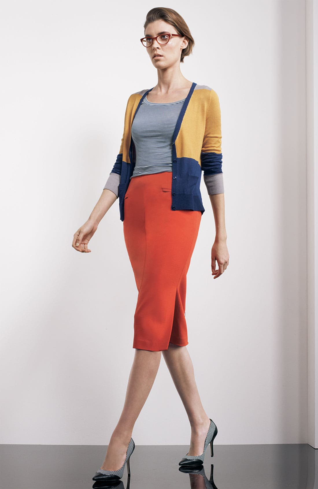 Alternate Image 3  - Halogen® Colorblock V-Neck Cardigan