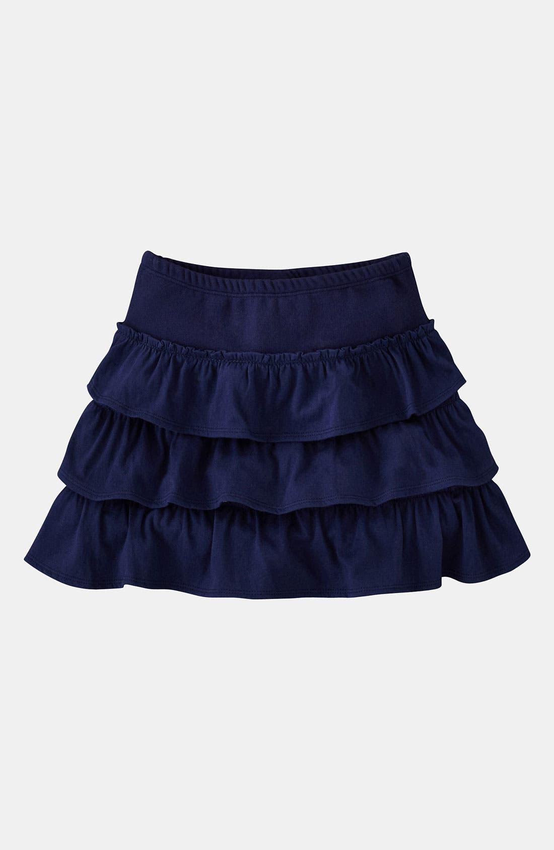 Alternate Image 1 Selected - Mini Boden Ruffle Jersey Skirt (Toddler)