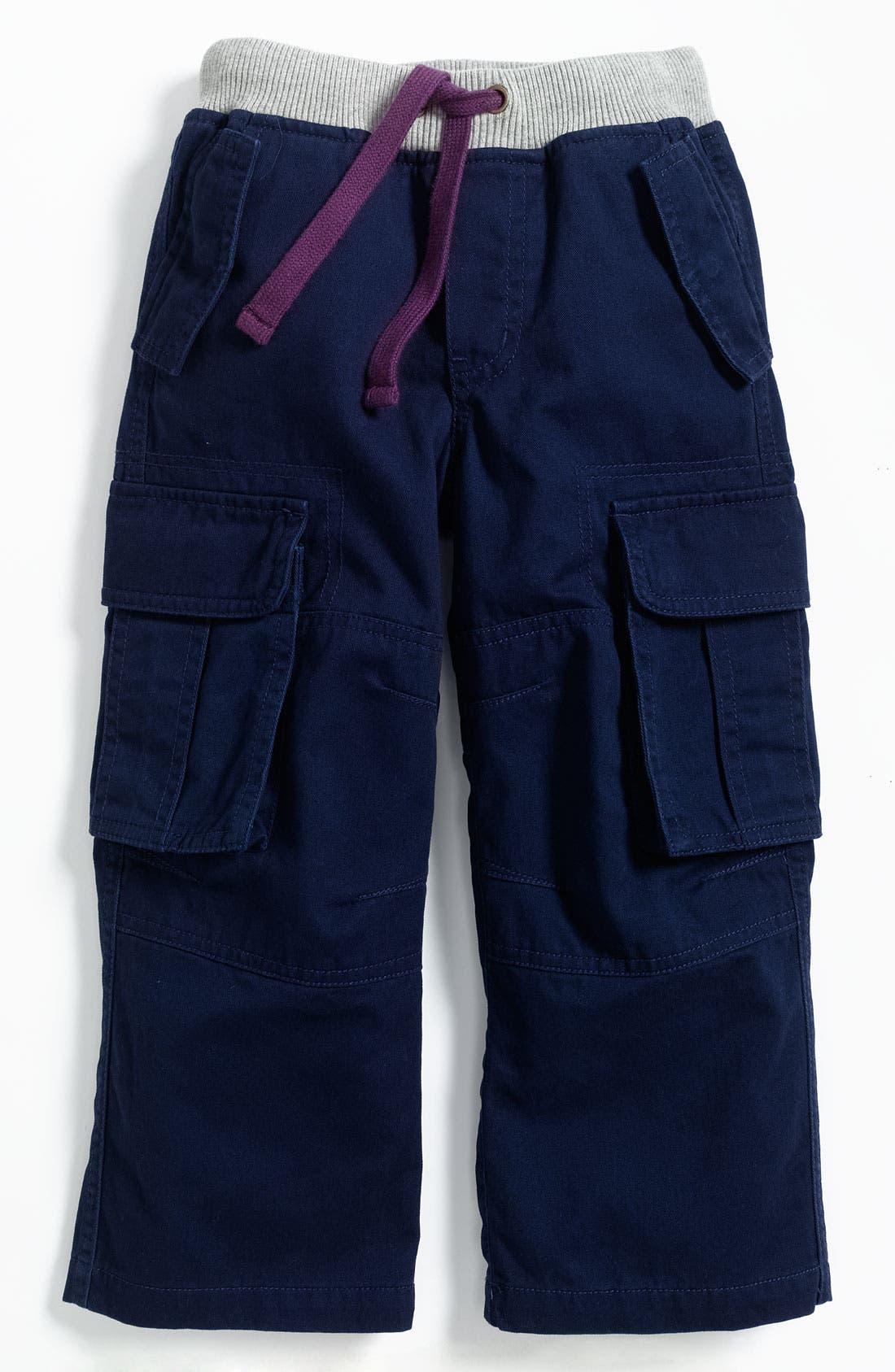 Alternate Image 1 Selected - Mini Boden Ribbed Waist Cargo Pants (Toddler)