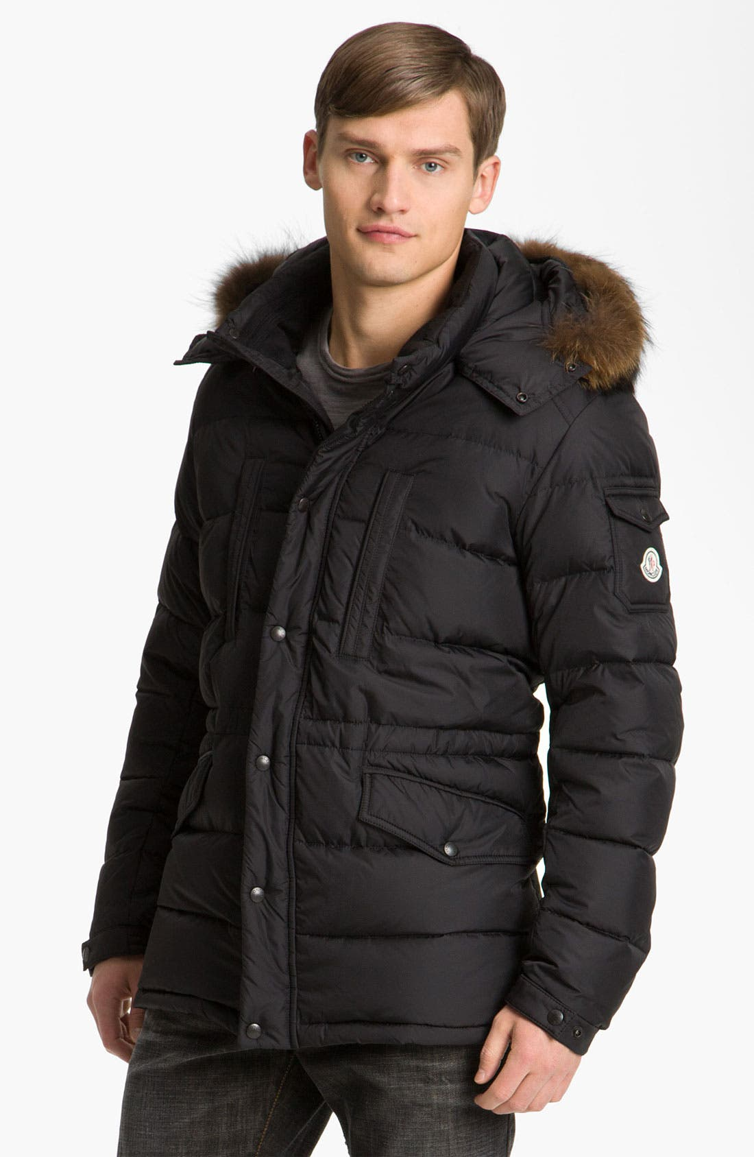 Alternate Image 1 Selected - Moncler 'Riviere' Hooded Parka