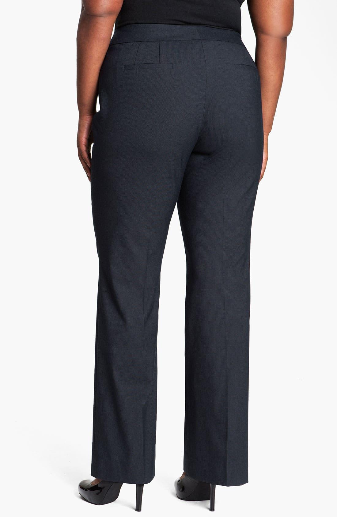 Alternate Image 2  - Sejour Pinstripe Suit Trousers (Plus)