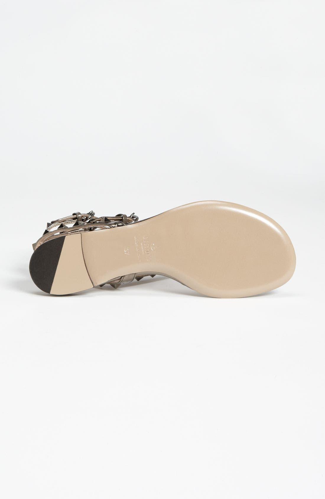 Alternate Image 4  - Valentino 'Rockstud' Flat Sandal