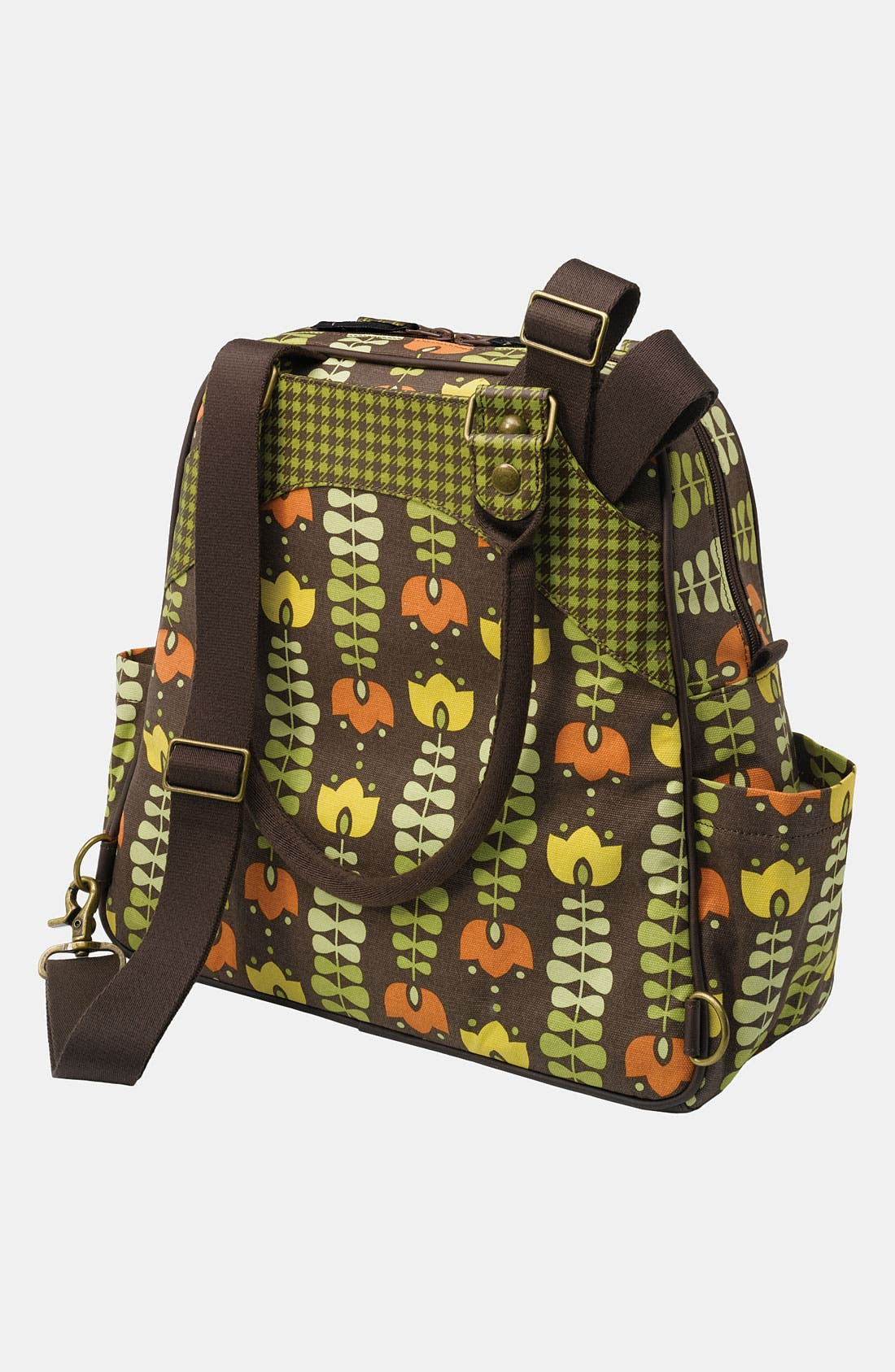 Alternate Image 3  - Petunia Pickle Bottom 'Glazed Sashay' Organic Cotton Convertible Diaper Bag/Satchel