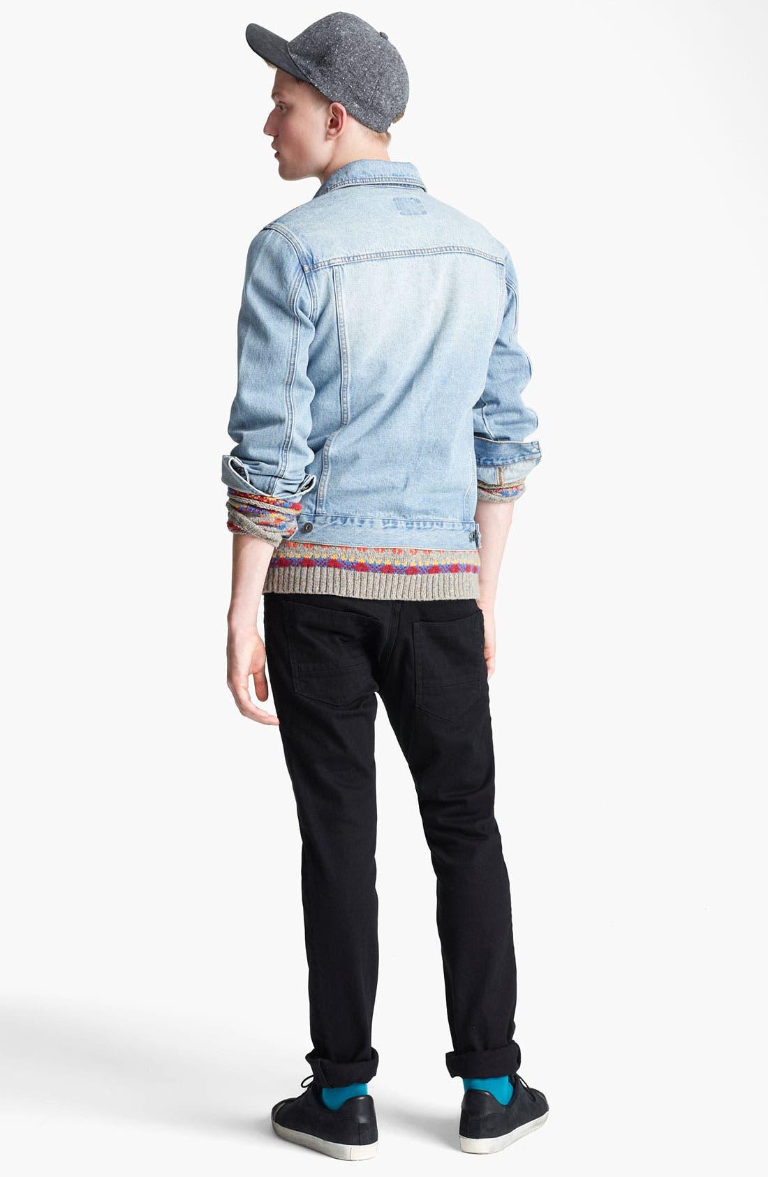 Alternate Image 5  - Topman 'Cavendish' Denim Jacket