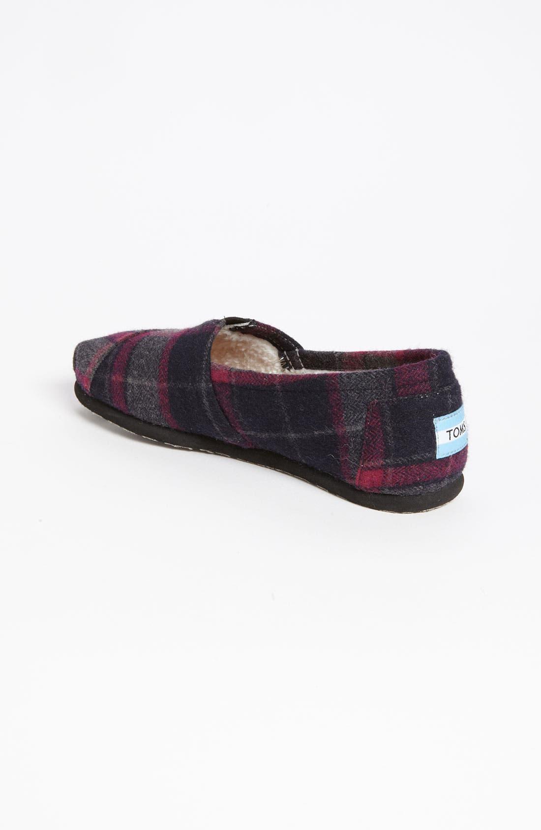 Alternate Image 2  - TOMS 'Classic - Plaid' Wool Slip-On