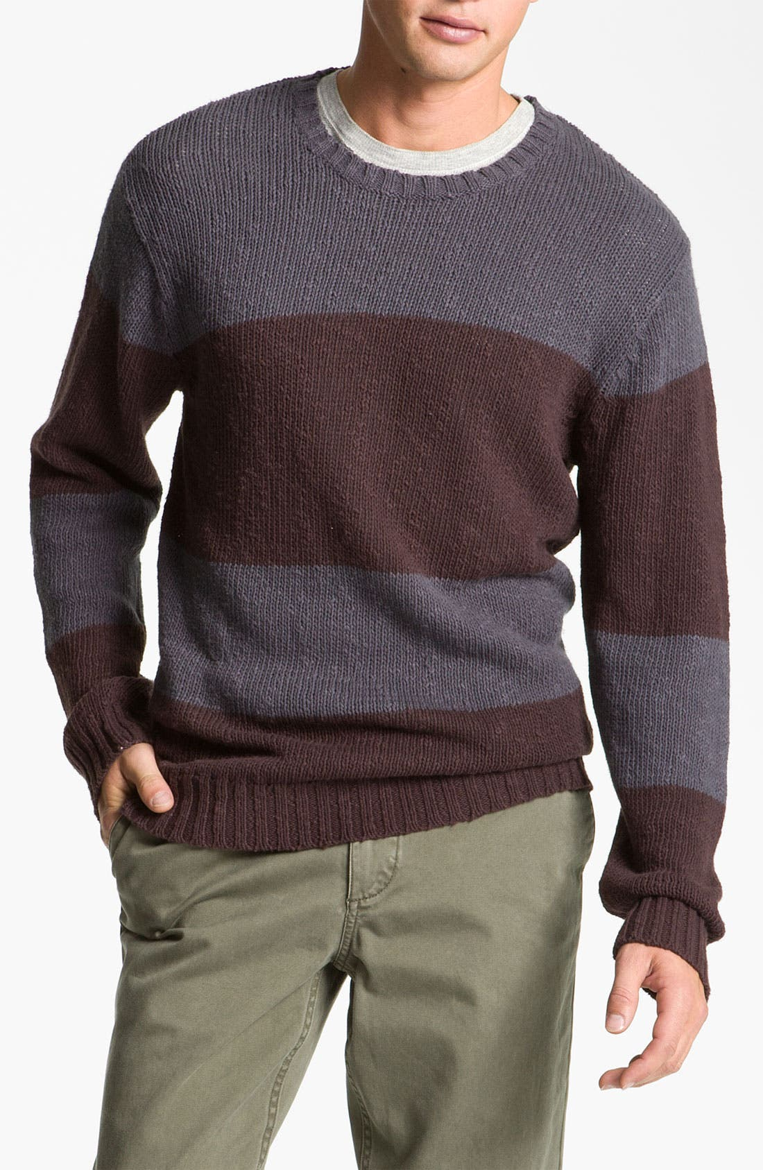 Alternate Image 1 Selected - VSTR 'Saltie' Stripe Crewneck Sweater