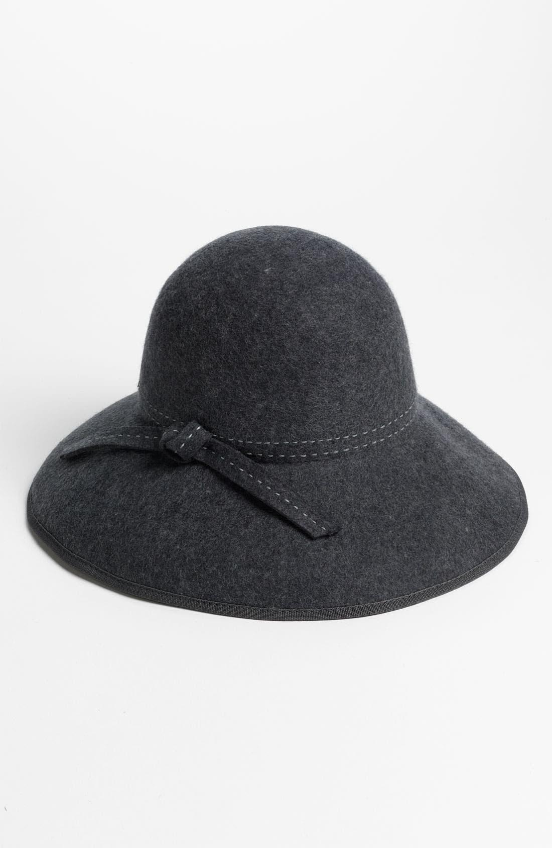 Main Image - Nordstrom Wire Brim Floppy Wool Hat