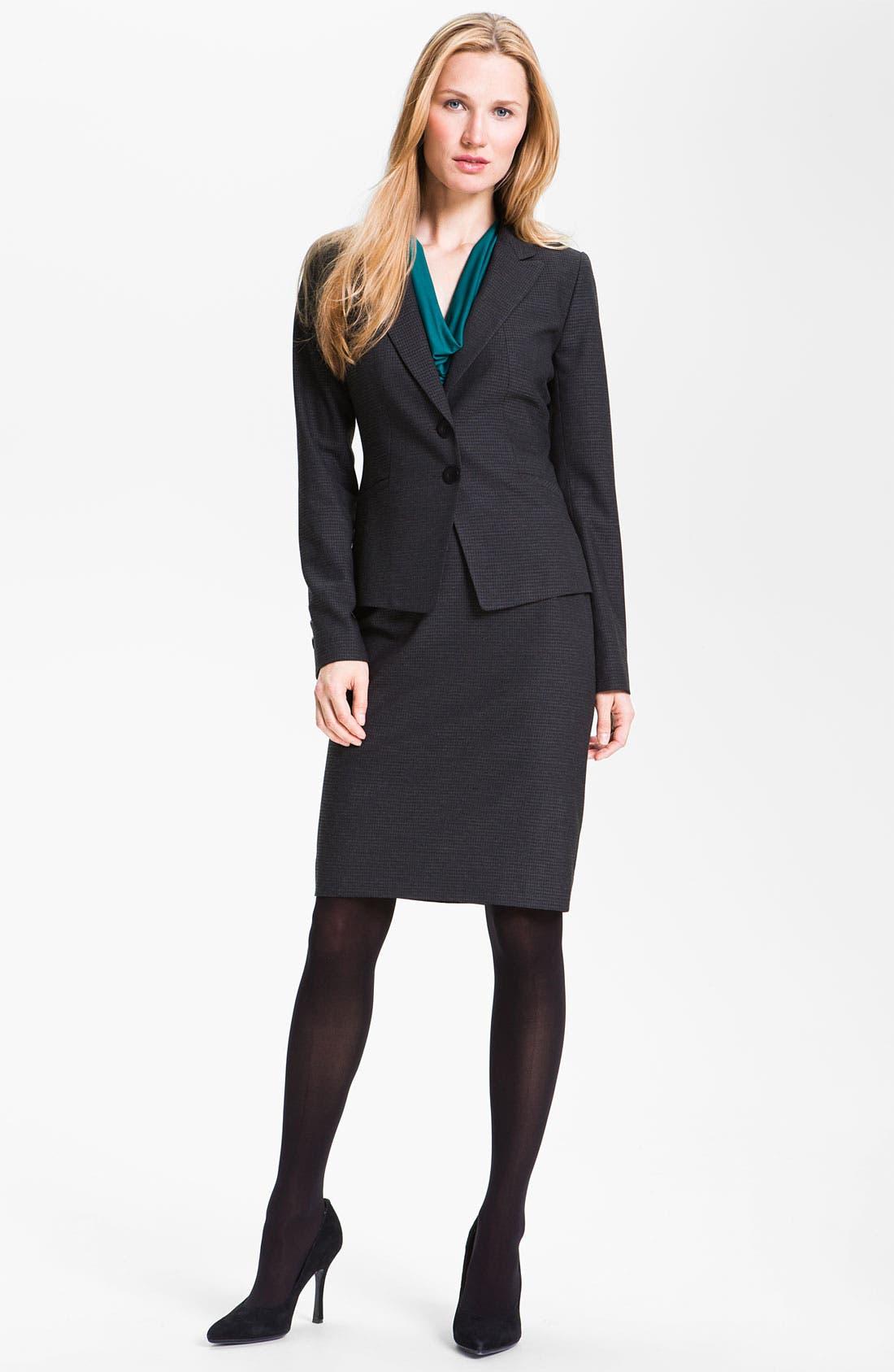 Alternate Image 4  - Classiques Entier® 'Glam Grid' Skirt