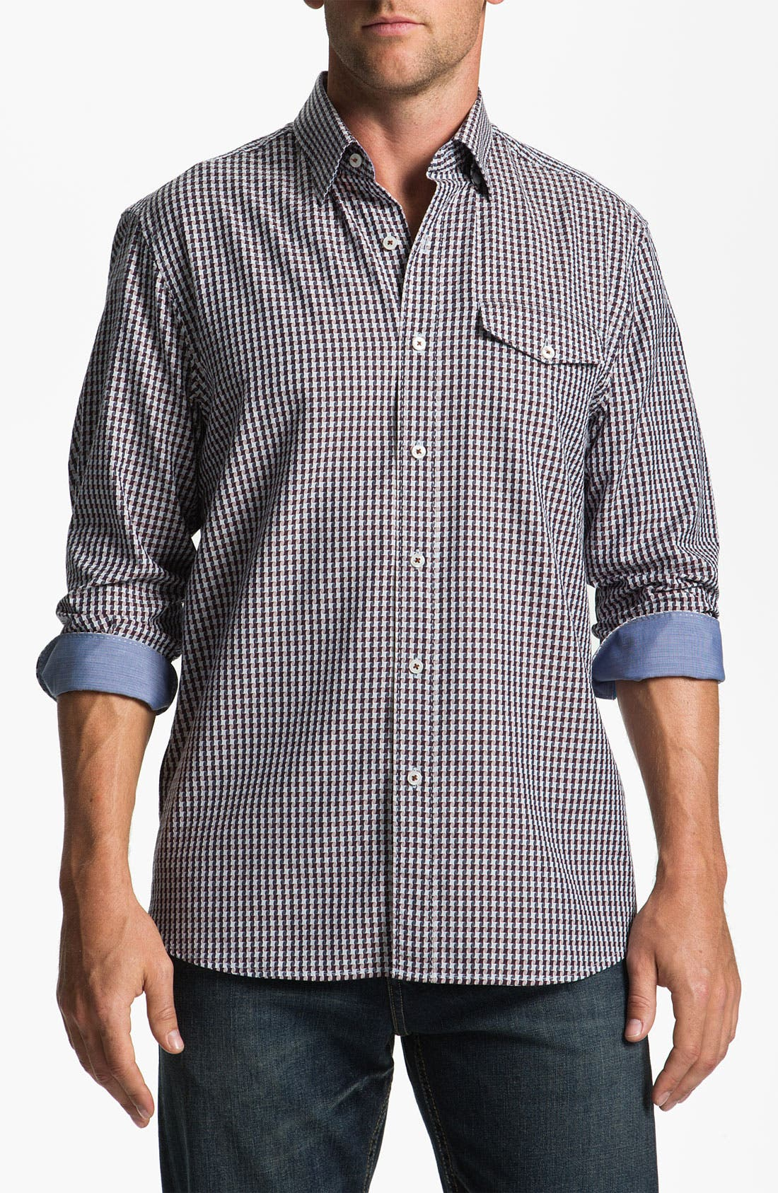 Alternate Image 1 Selected - Tommy Bahama 'Lost 'N Hounds' Sport Shirt