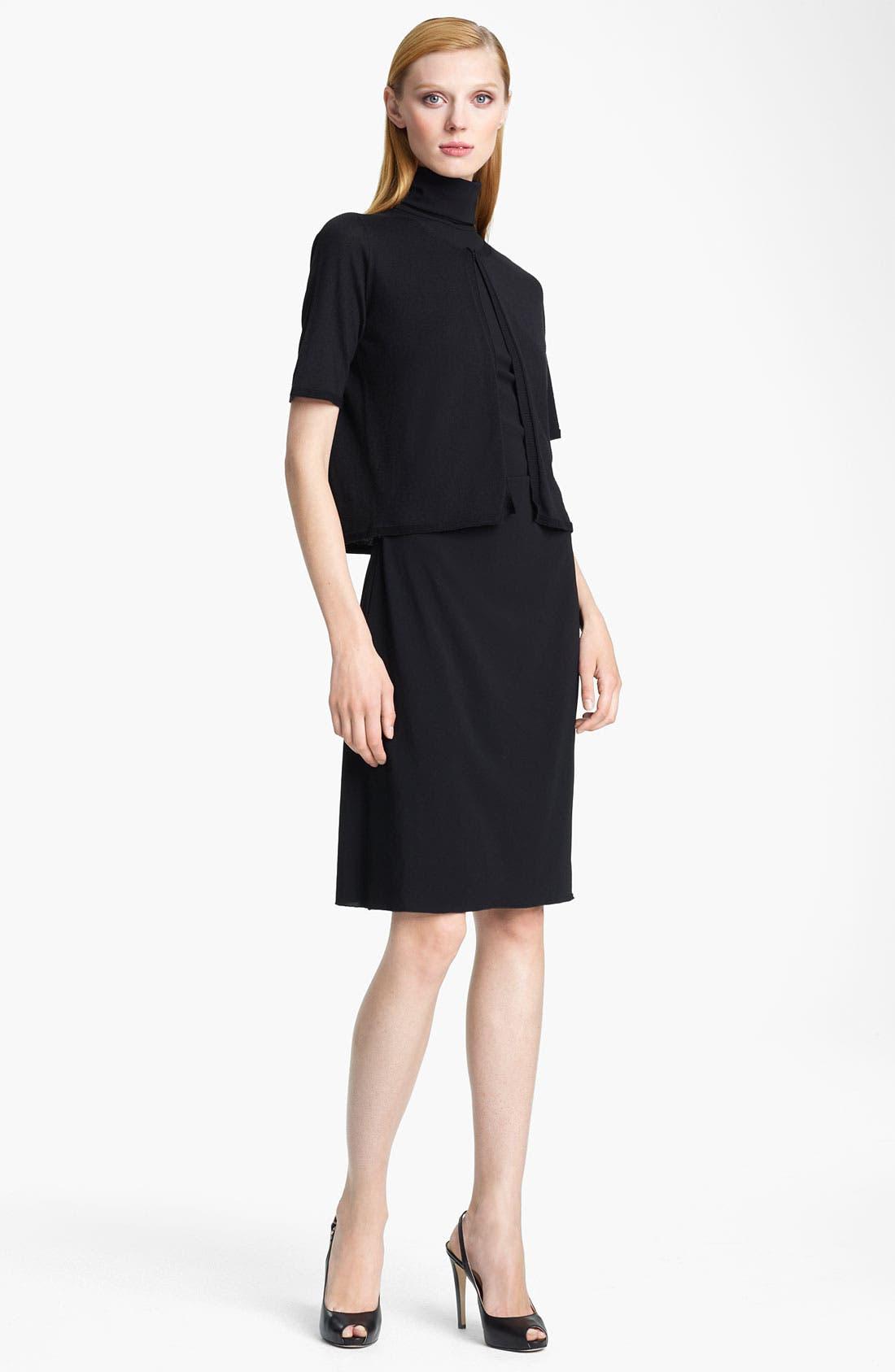Alternate Image 1 Selected - Armani Collezioni Wool Blend Bolero