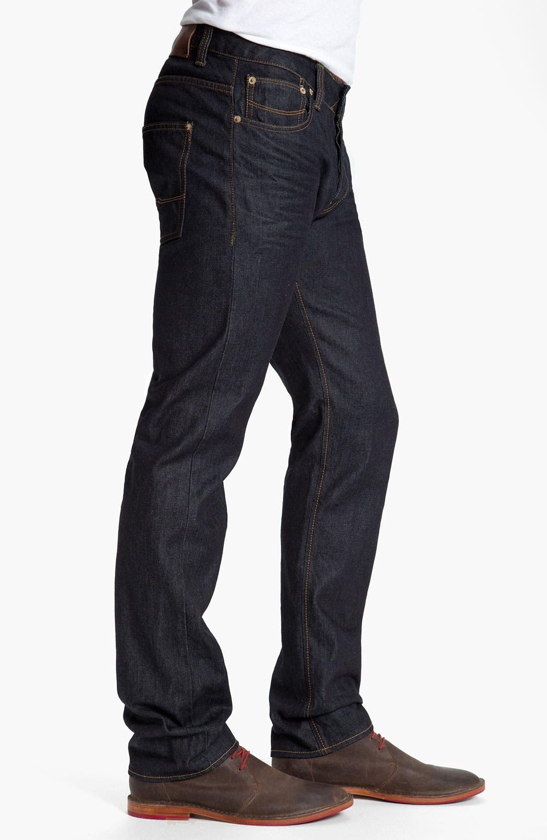 Alternate Image 3  - Ted Baker London Straight Leg Jeans (Rinse Denim)