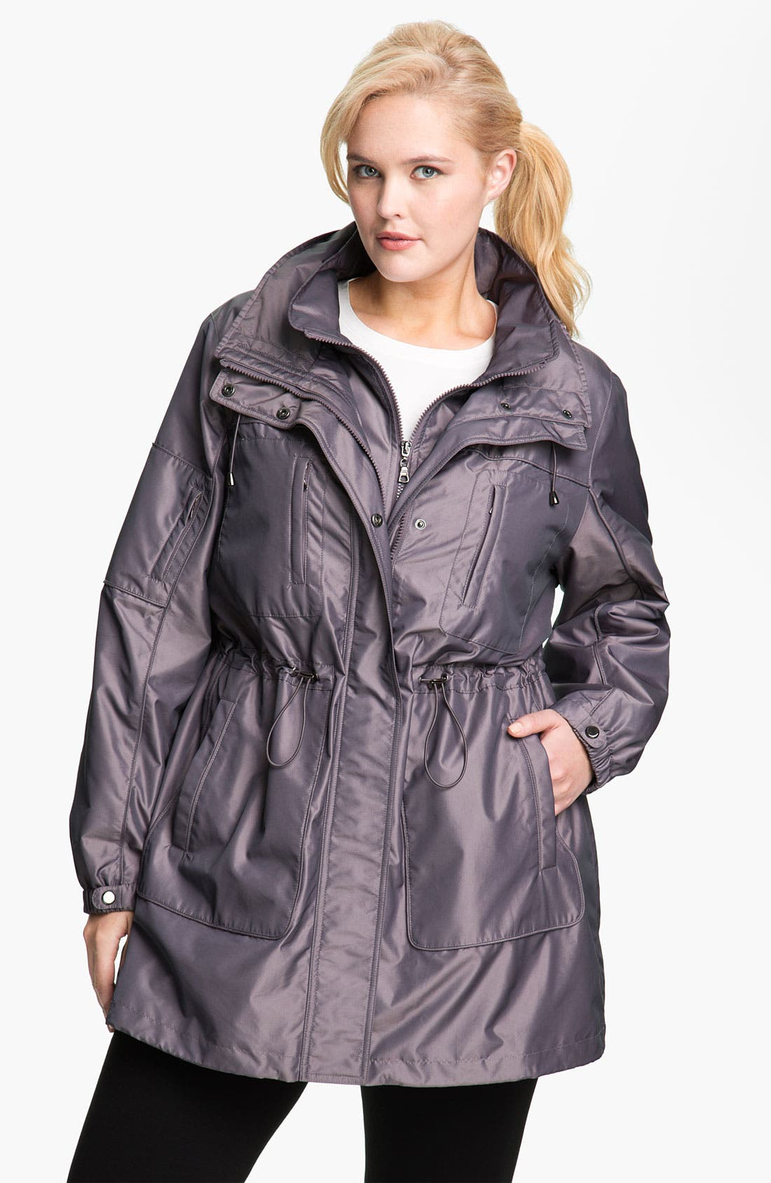 Alternate Image 1 Selected - Gallery Water Repellent Anorak with Detachable Liner (Plus)