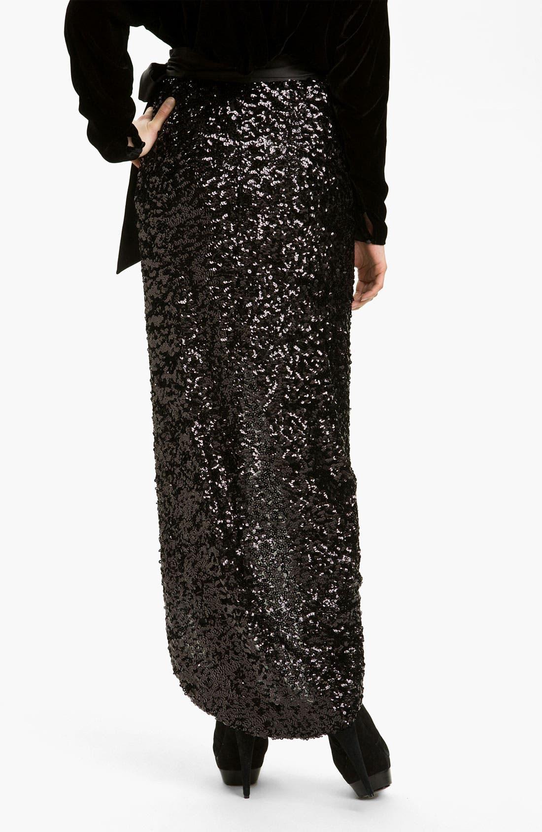 Alternate Image 2  - Rachel Zoe 'Abbey' Sequin Maxi Skirt