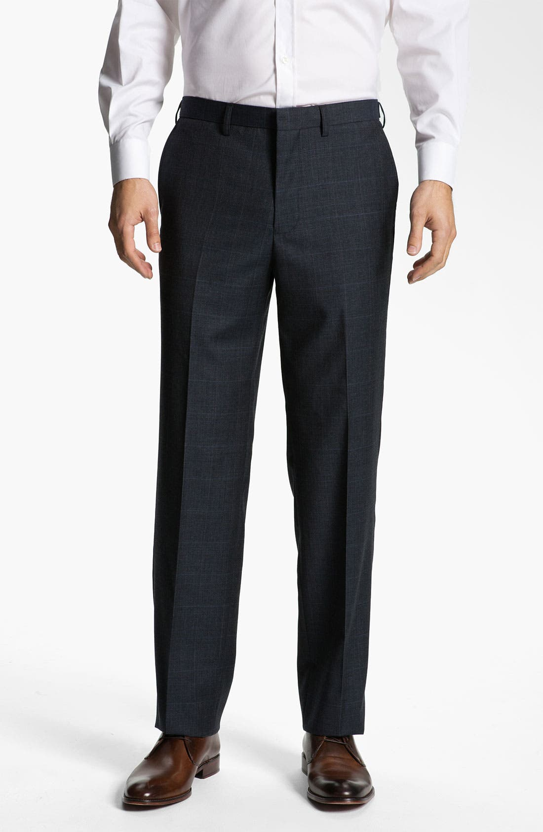 Alternate Image 1 Selected - Calibrate Side Tab Plaid Wool Pants
