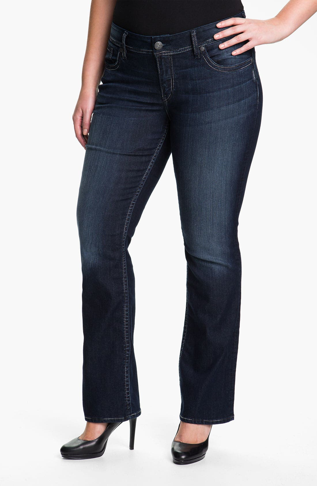 Main Image - Silver Jeans Co. 'Baby Boot' Bootcut Jeans (Juniors Plus)