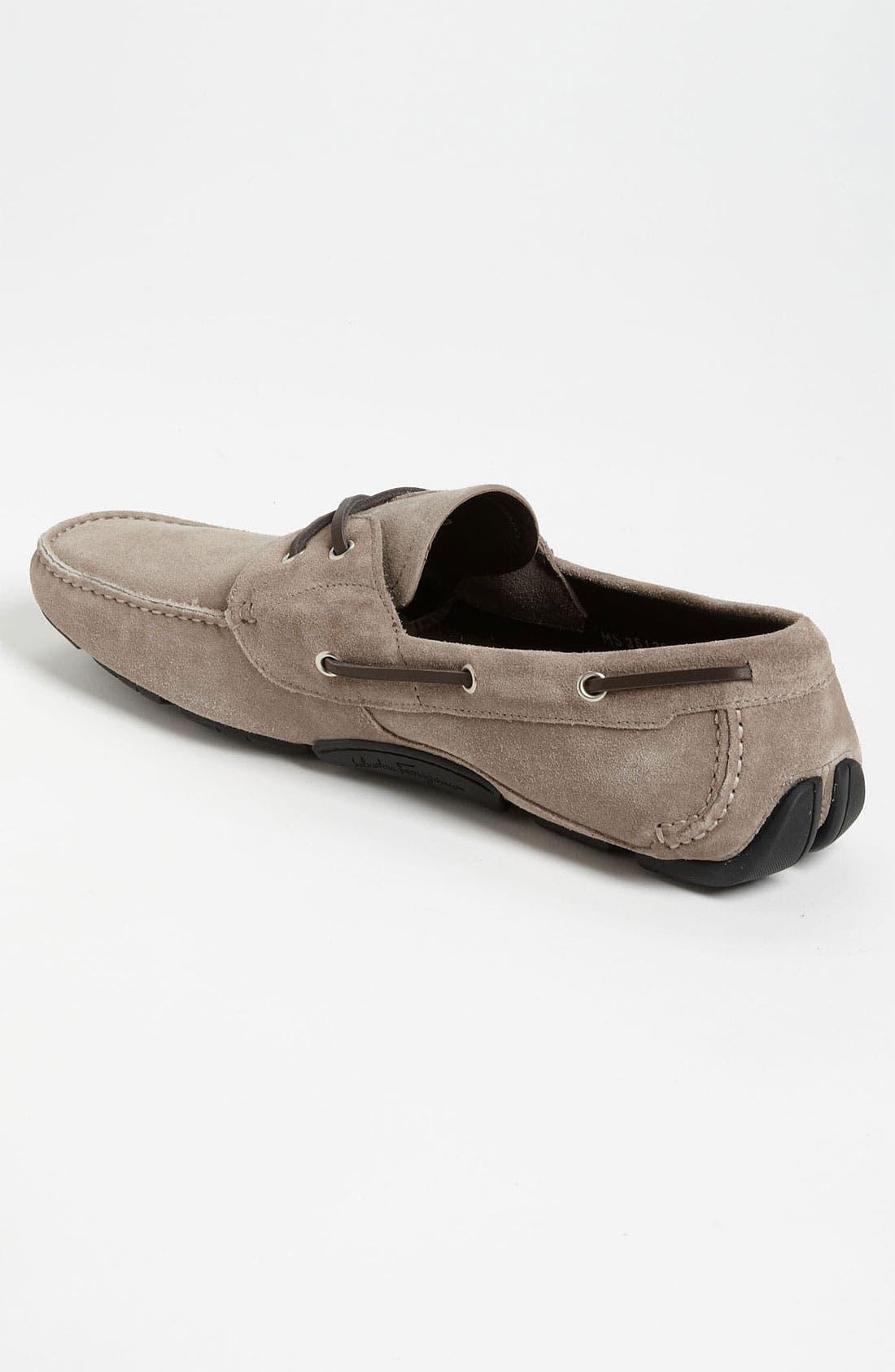 Alternate Image 2  - Salvatore Ferragamo 'Anthony' Suede Driving Shoe
