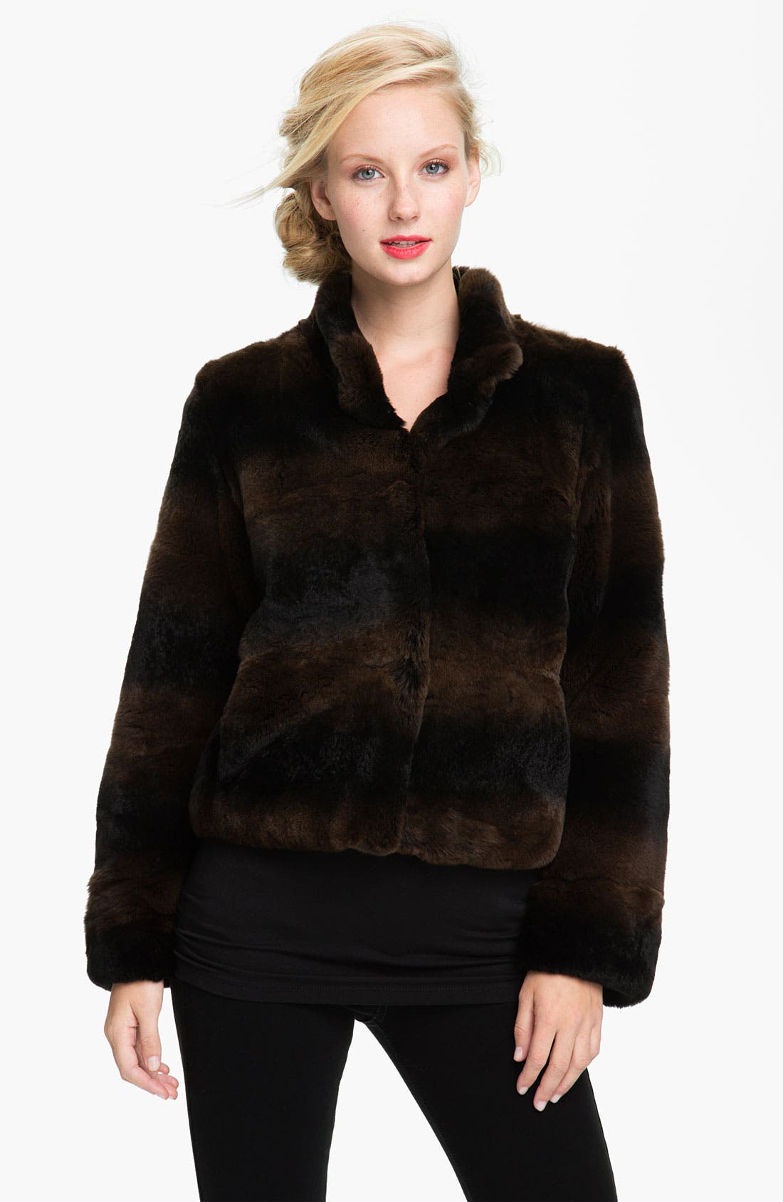 Alternate Image 1 Selected - Blue Duck Genuine Rabbit Fur Jacket