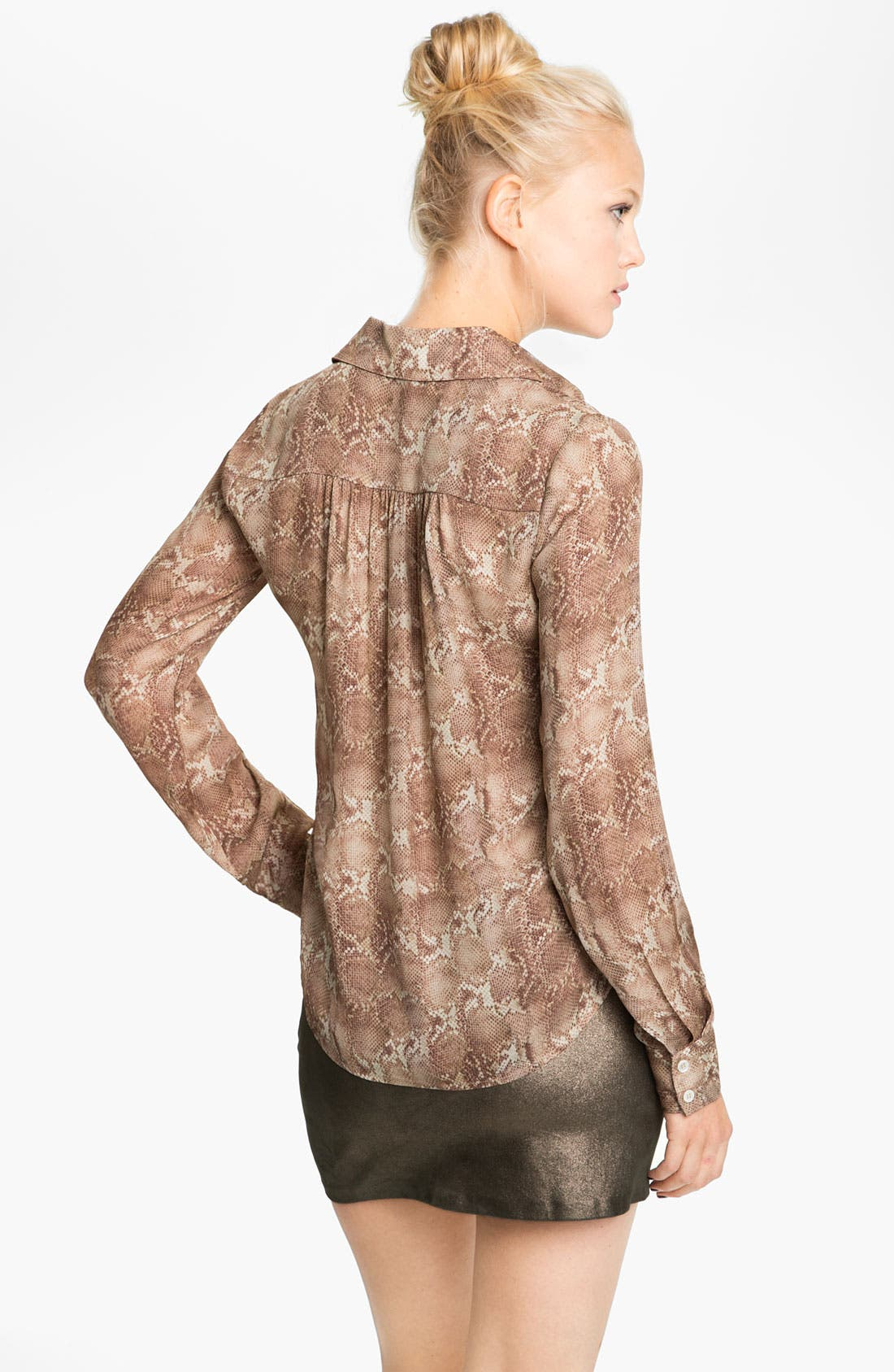 Alternate Image 2  - Haute Hippie Print Silk Shirt