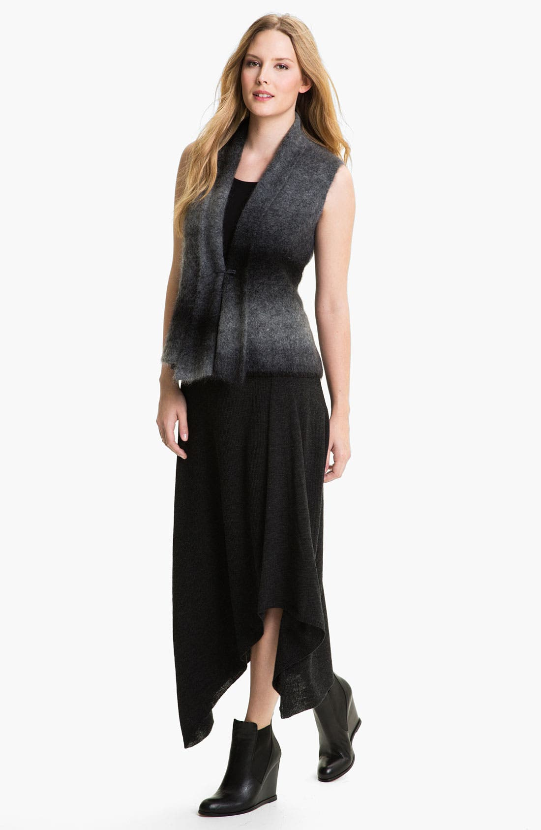 Alternate Image 4  - Eileen Fisher Merino Jersey Rib Knit Skirt