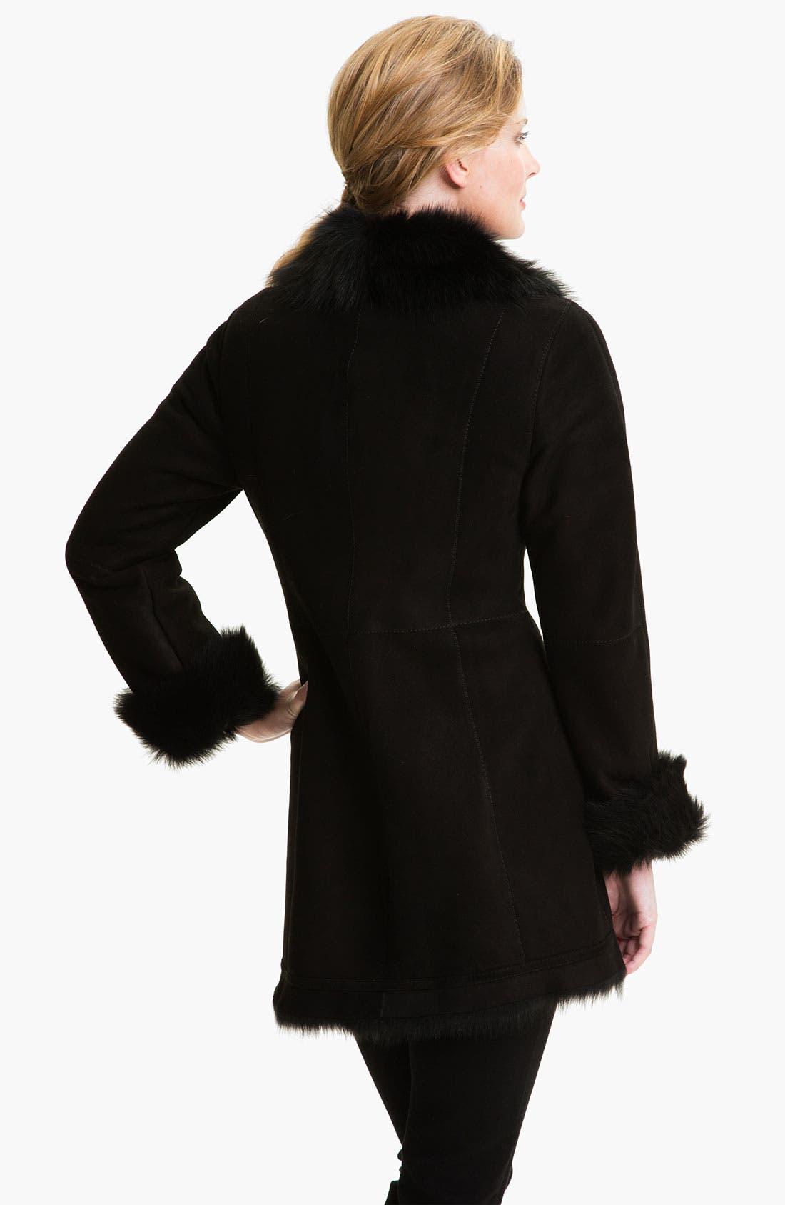 Alternate Image 2  - HIDESOCIETY Notch Collar Genuine Shearling Coat